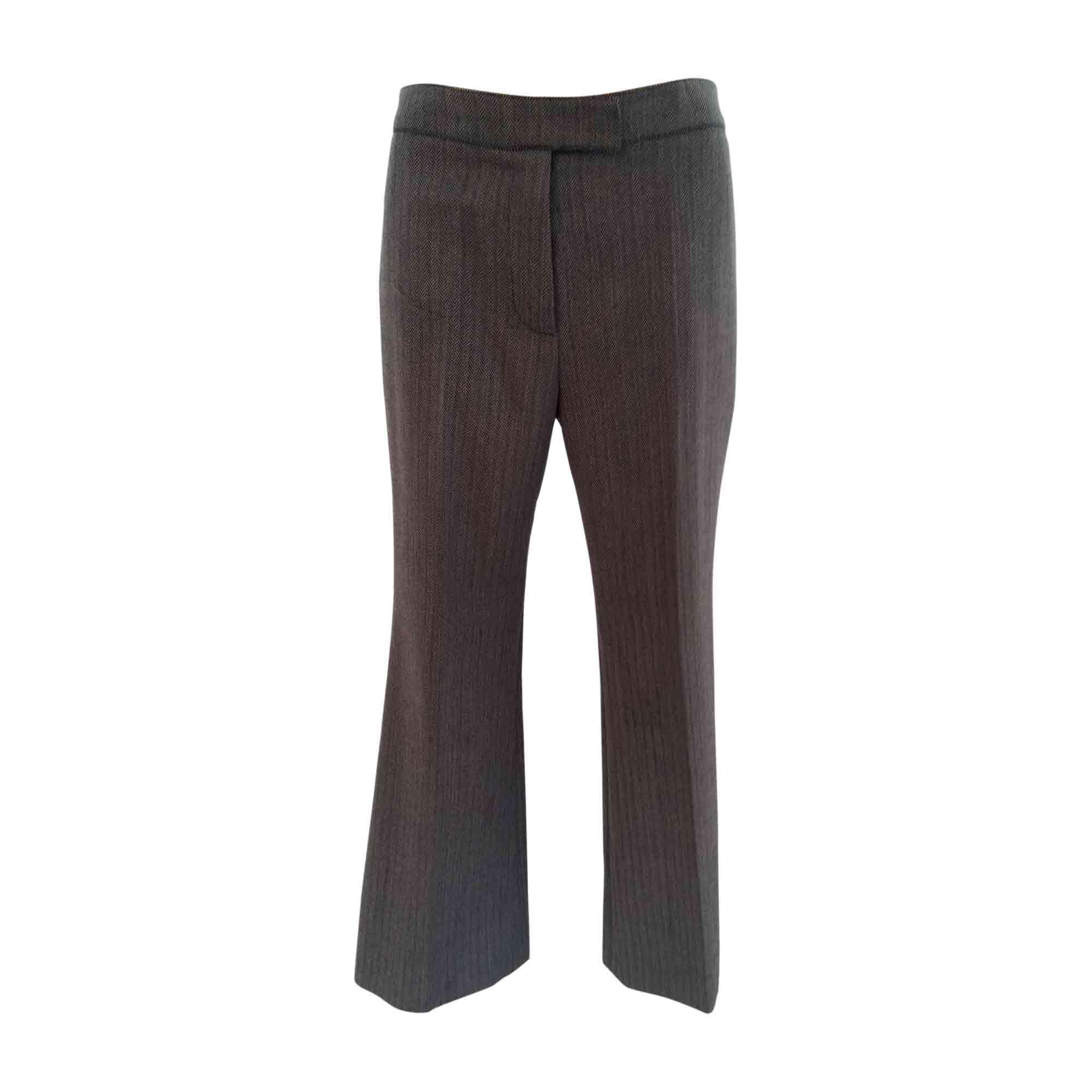 Pantalon droit CHLOÉ Gris, anthracite