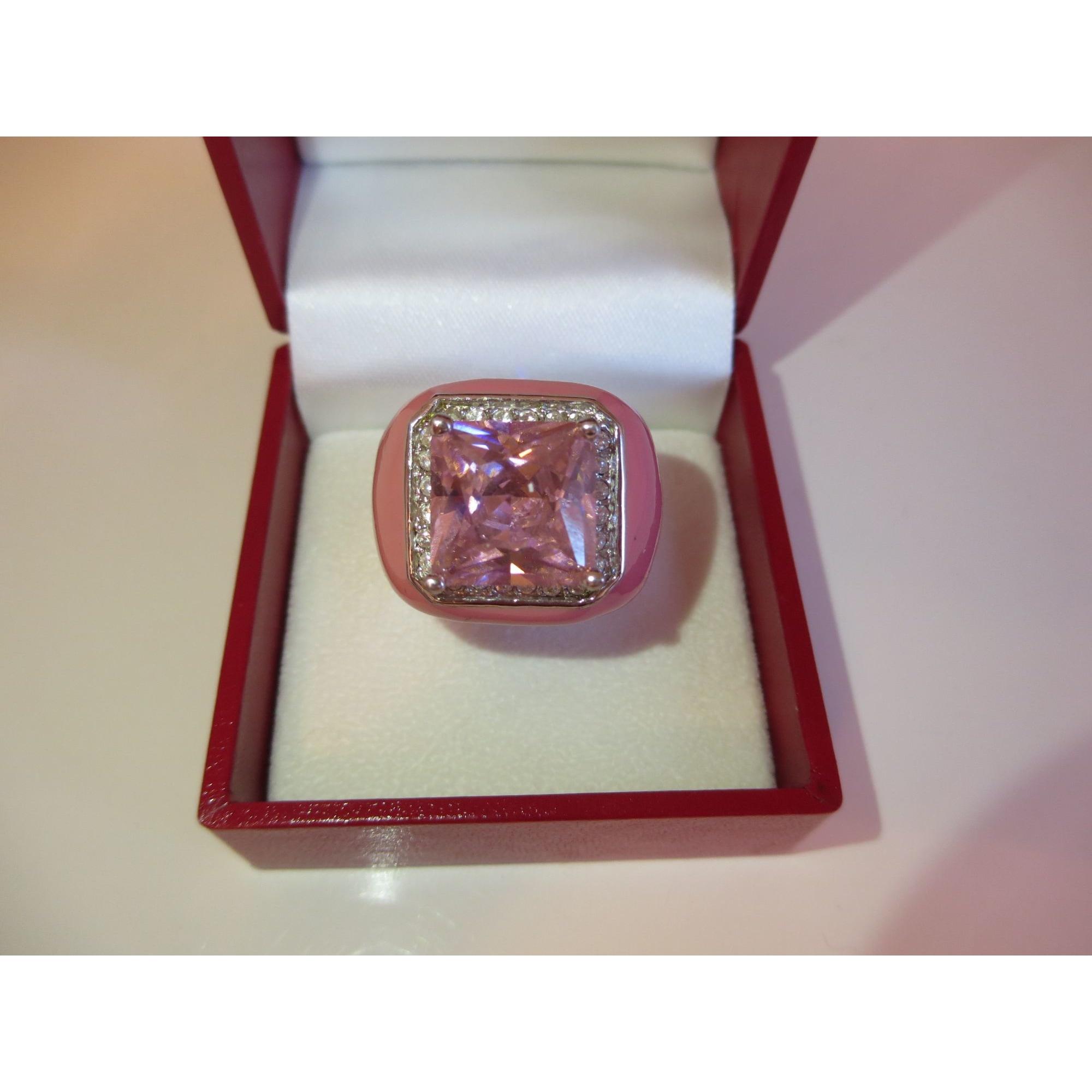 Bague CAMILLE LUCIE métal rose 56