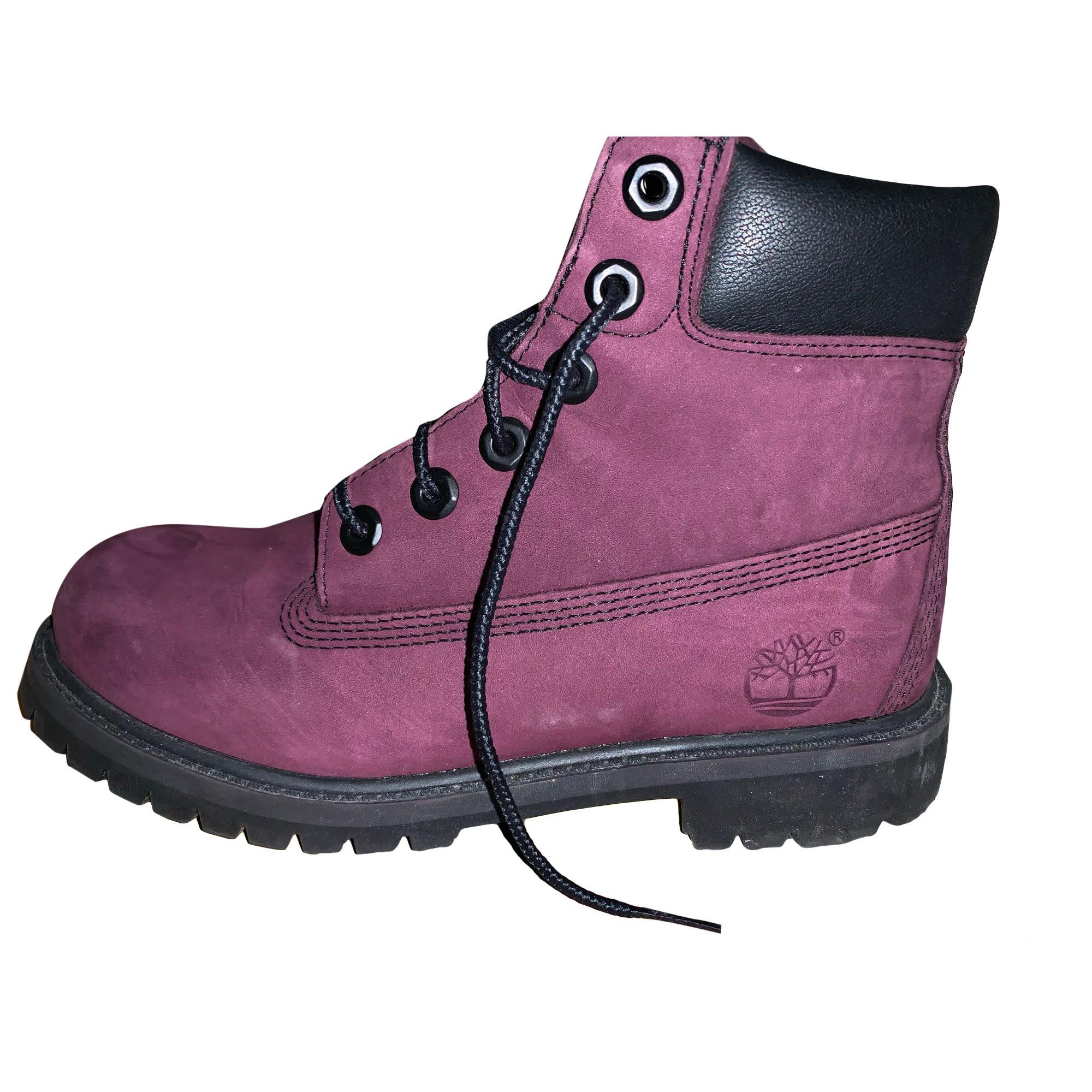 chaussure bottine femme timberland lavande