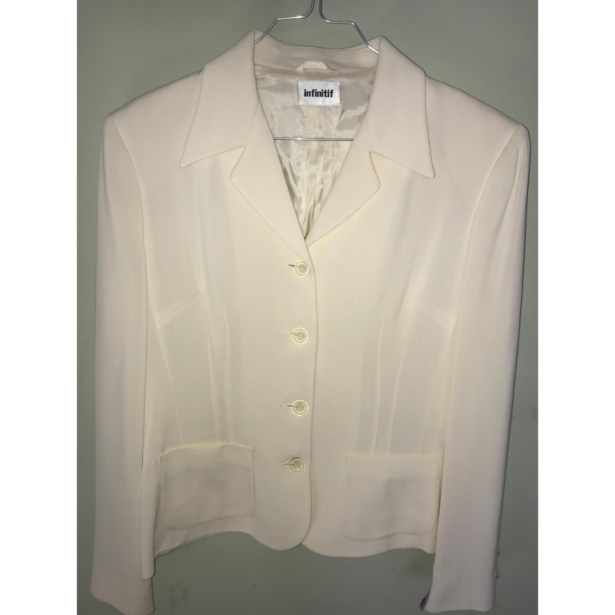 Blazer, veste tailleur INFINITIF Blanc, blanc cassé, écru