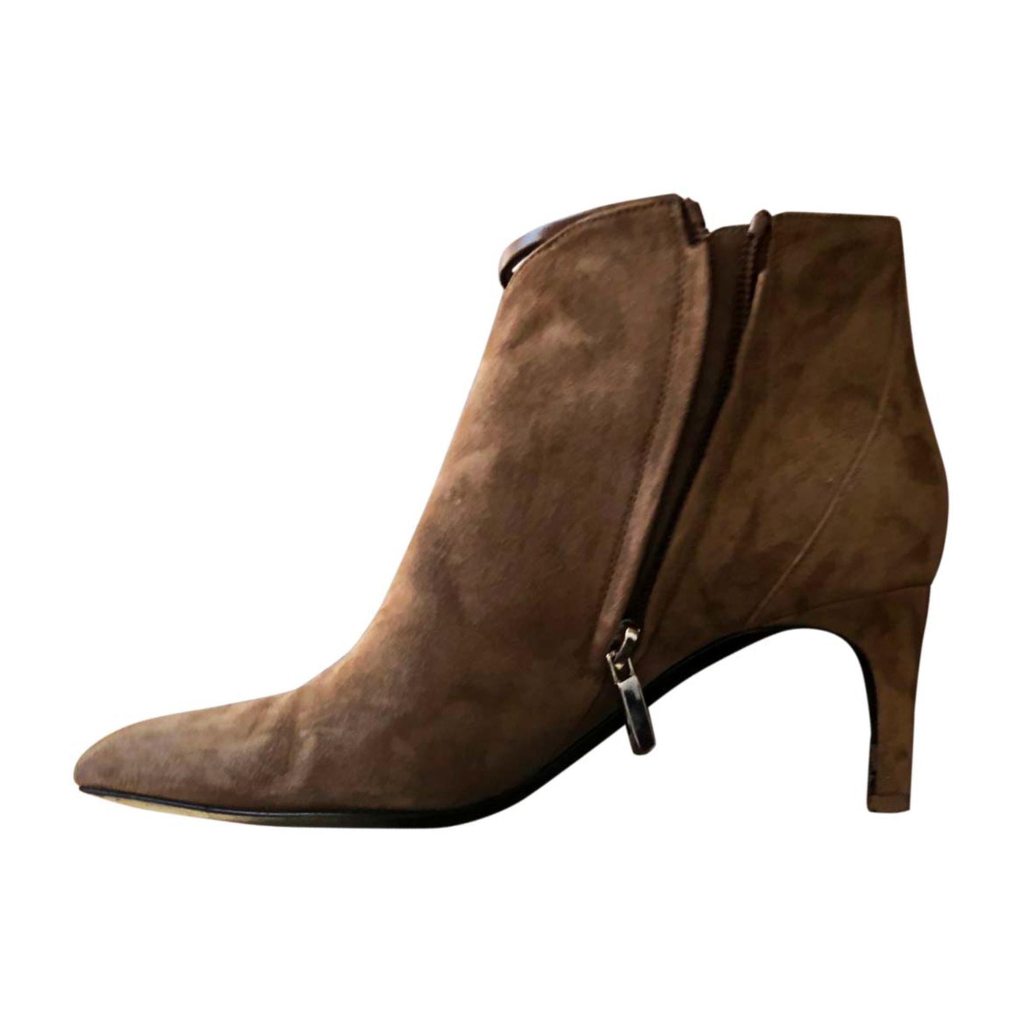 Bottines & low boots à talons HERMÈS Beige, camel