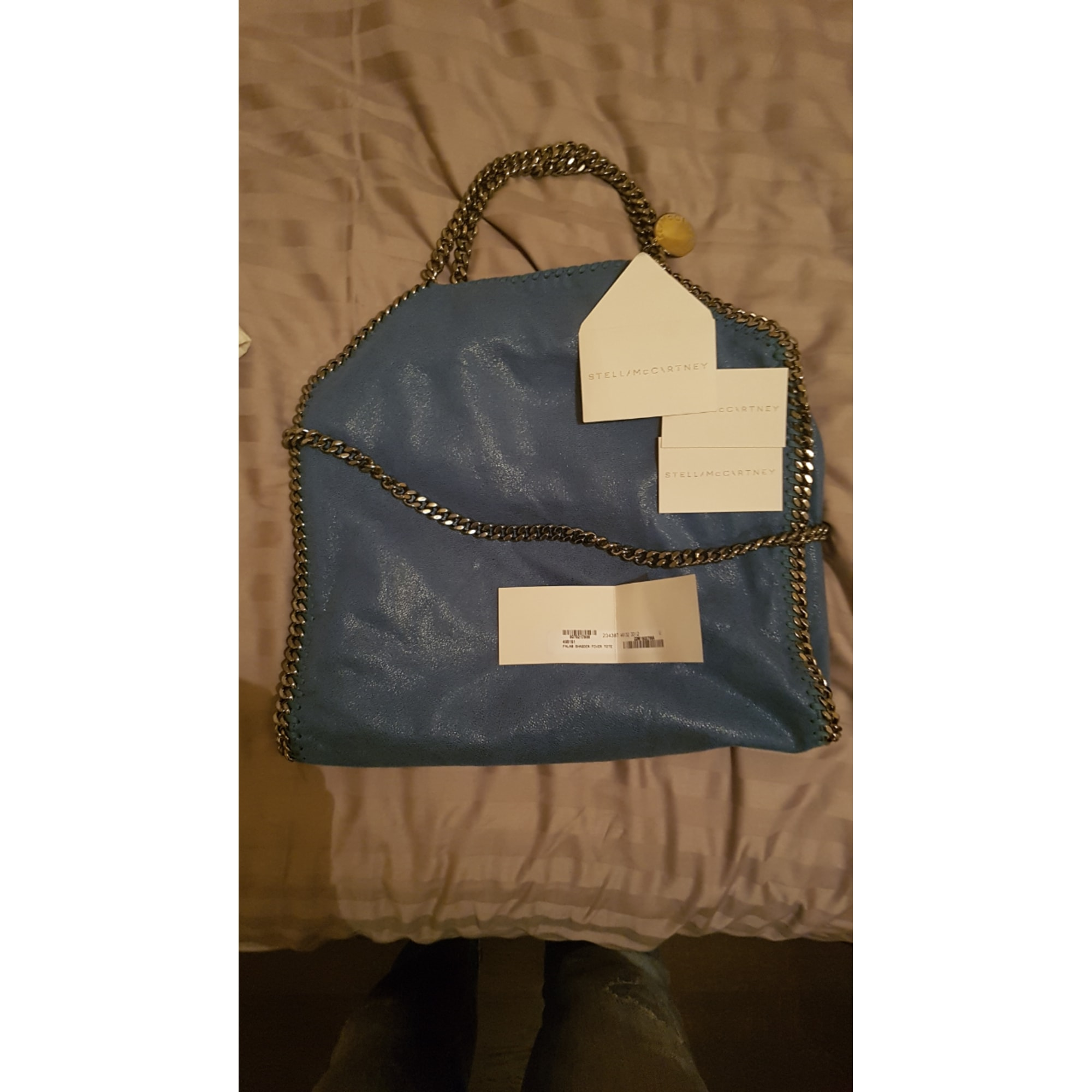 Sac à main en cuir STELLA MCCARTNEY Falabella Bleu, bleu marine, bleu turquoise