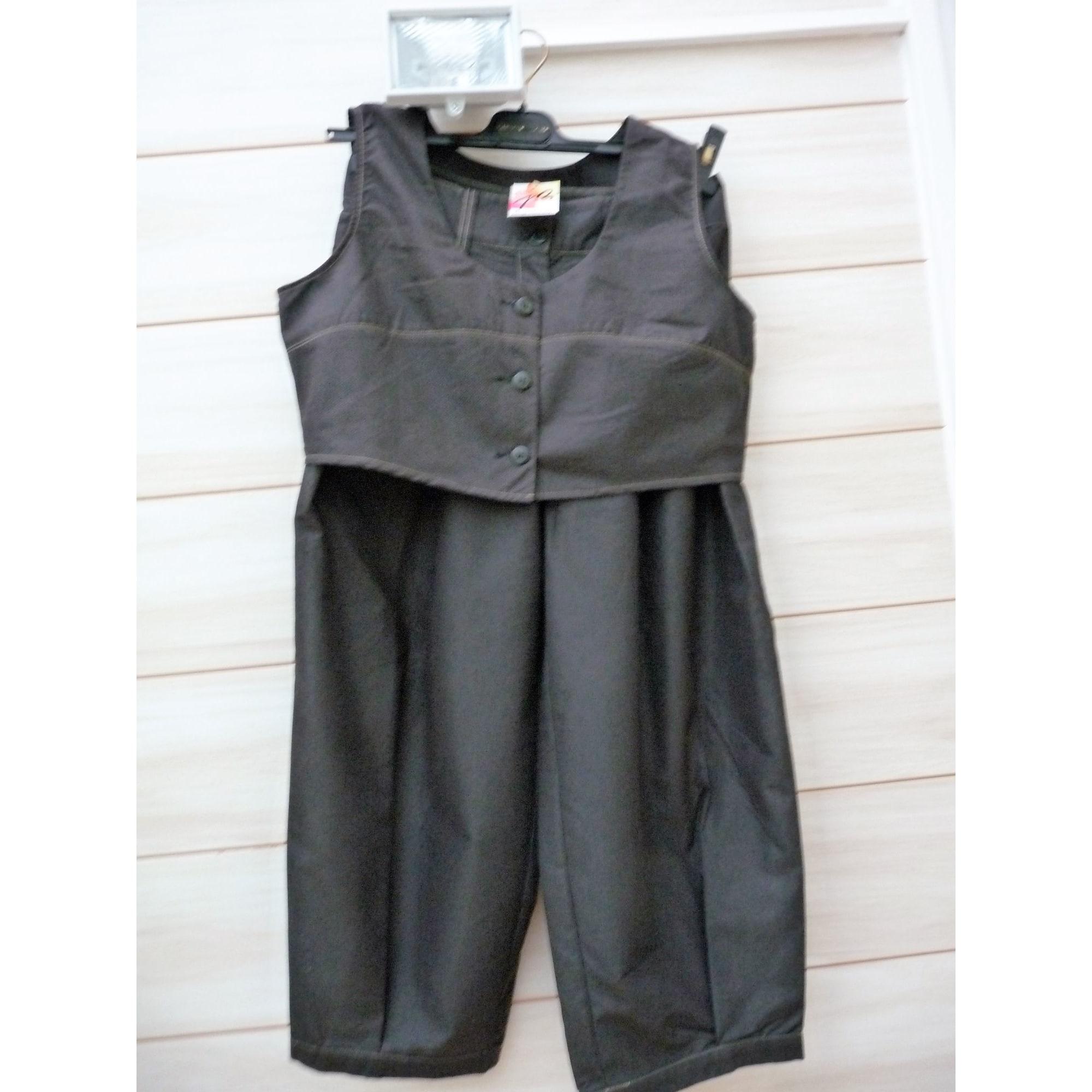 Tailleur pantalon JACQUELINE RIU Gris, anthracite