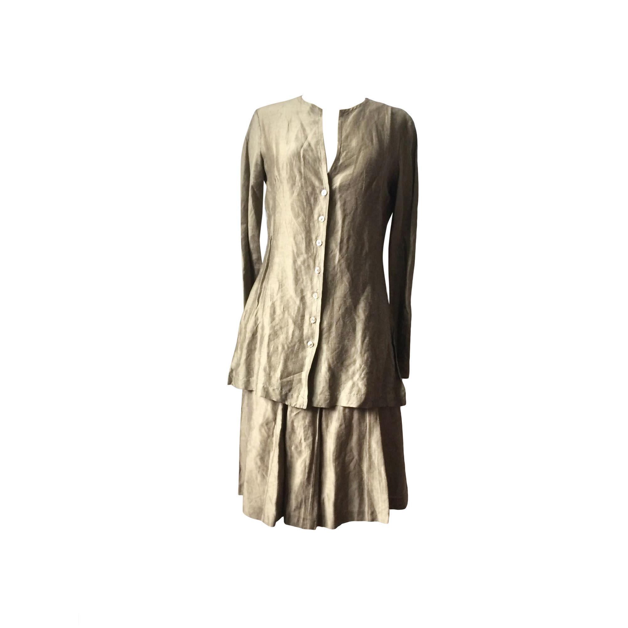 Tailleur jupe TARA JARMON Doré, bronze, cuivre