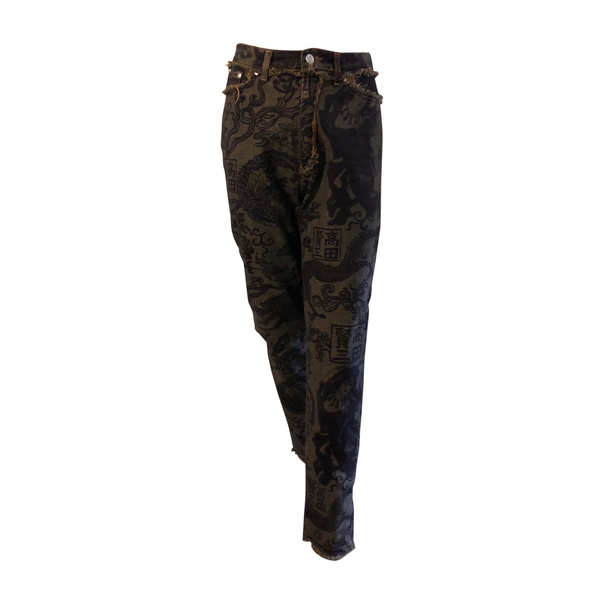 Jeans droit KENZO Bleu violet /marron