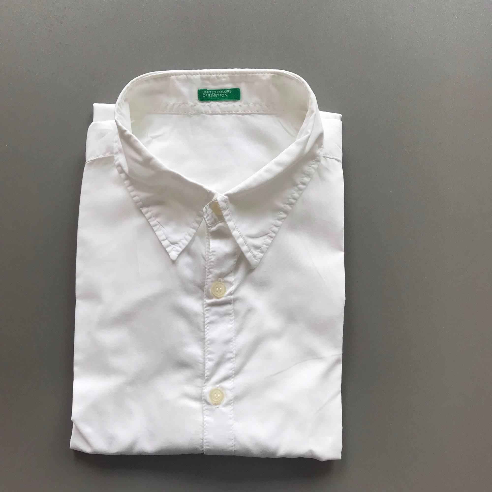 Chemise BENETTON Blanc, blanc cassé, écru