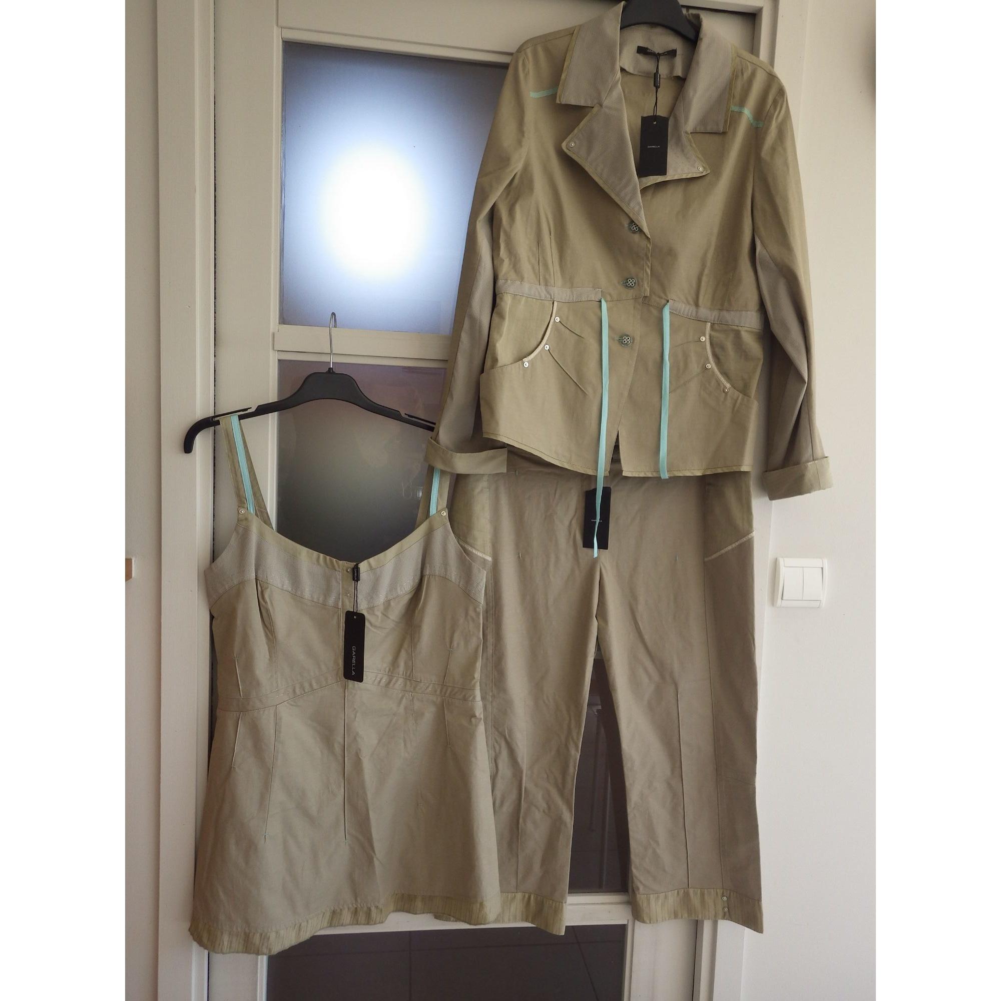 Tailleur pantalon GARELLA Beige, camel