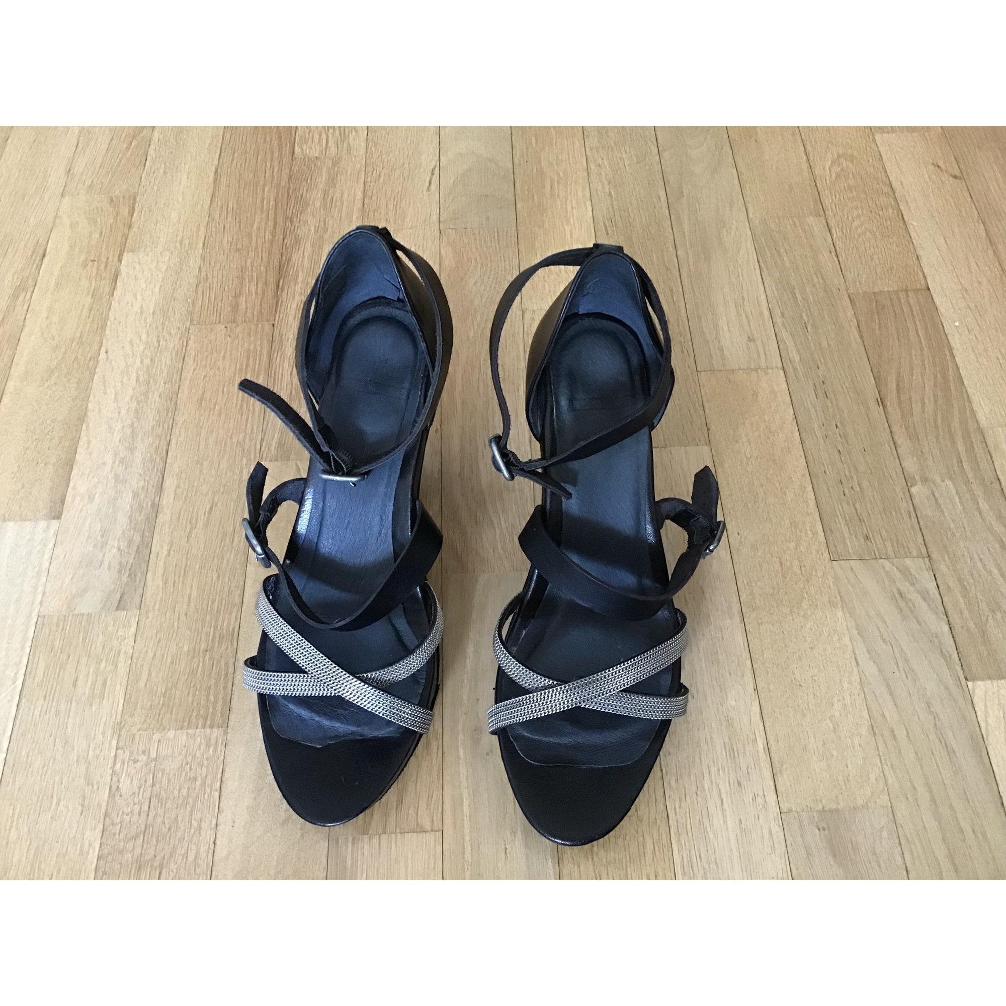 Escarpins à bouts ouverts IKKS Noir