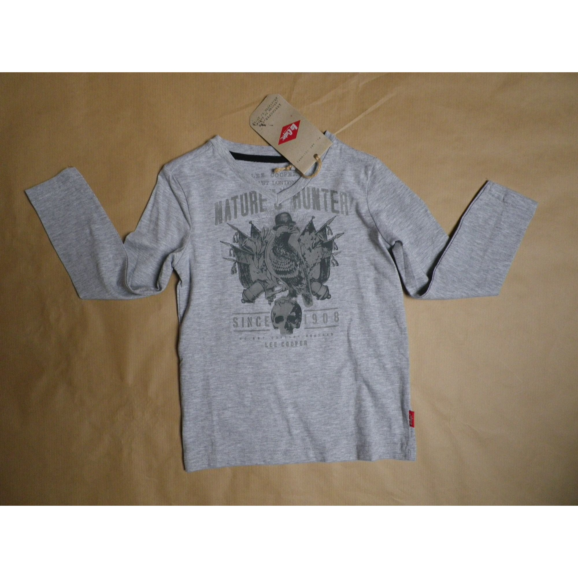 Tee-shirt LEE COOPER Gris, anthracite