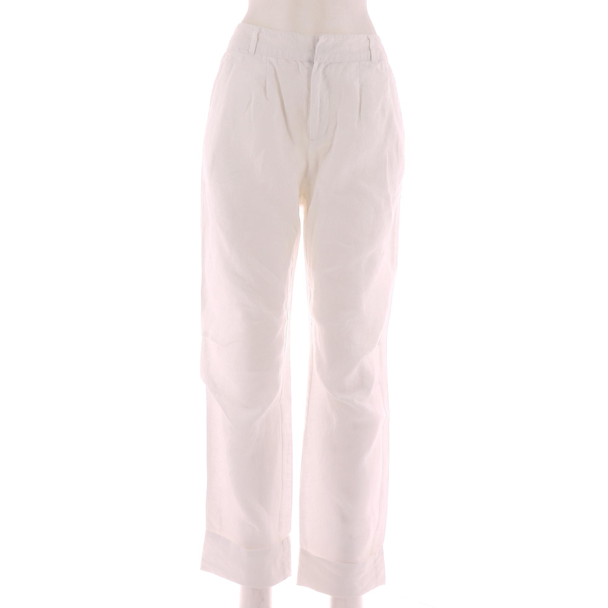Pantalon droit BERENICE Blanc, blanc cassé, écru