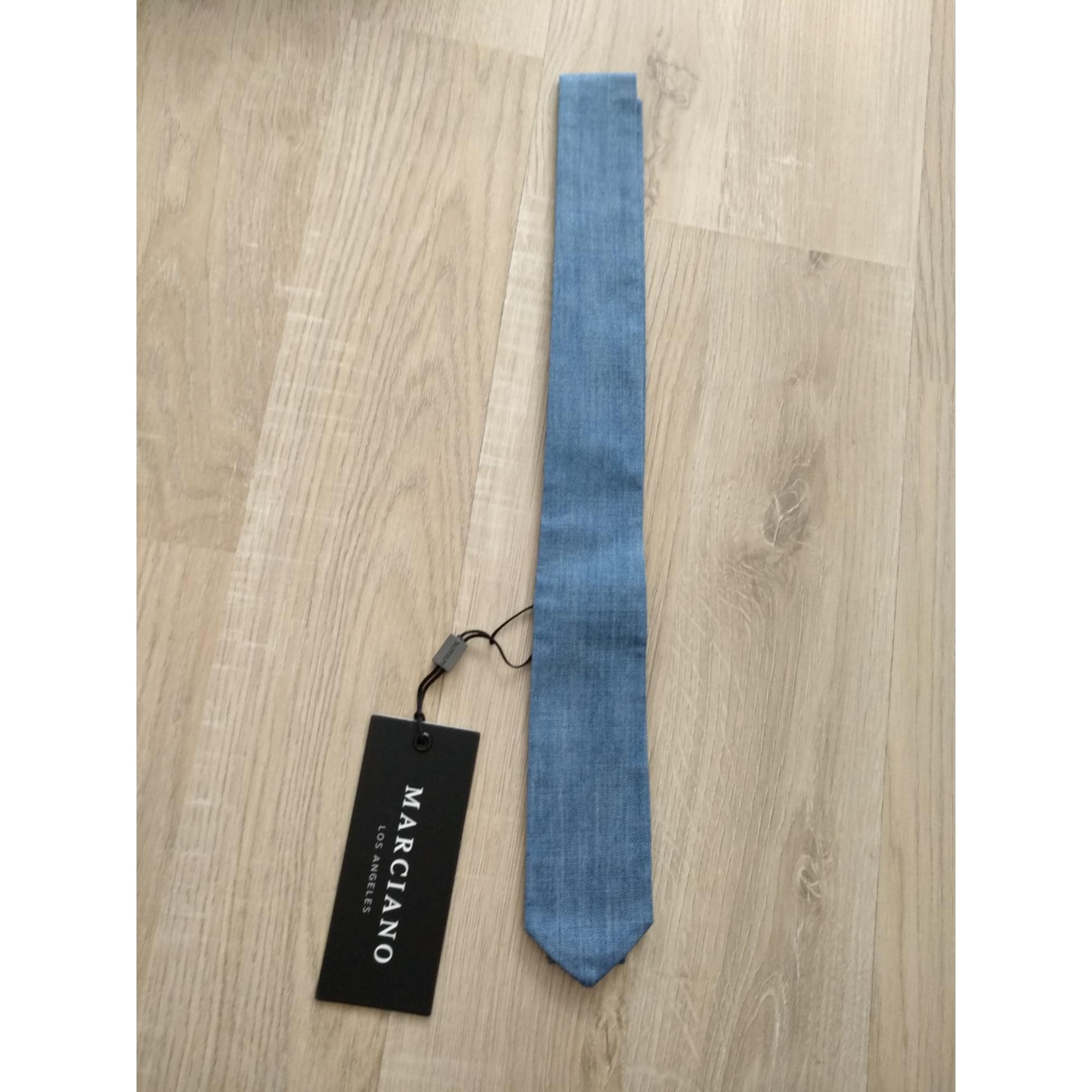 Cravate GUESS Bleu, bleu marine, bleu turquoise
