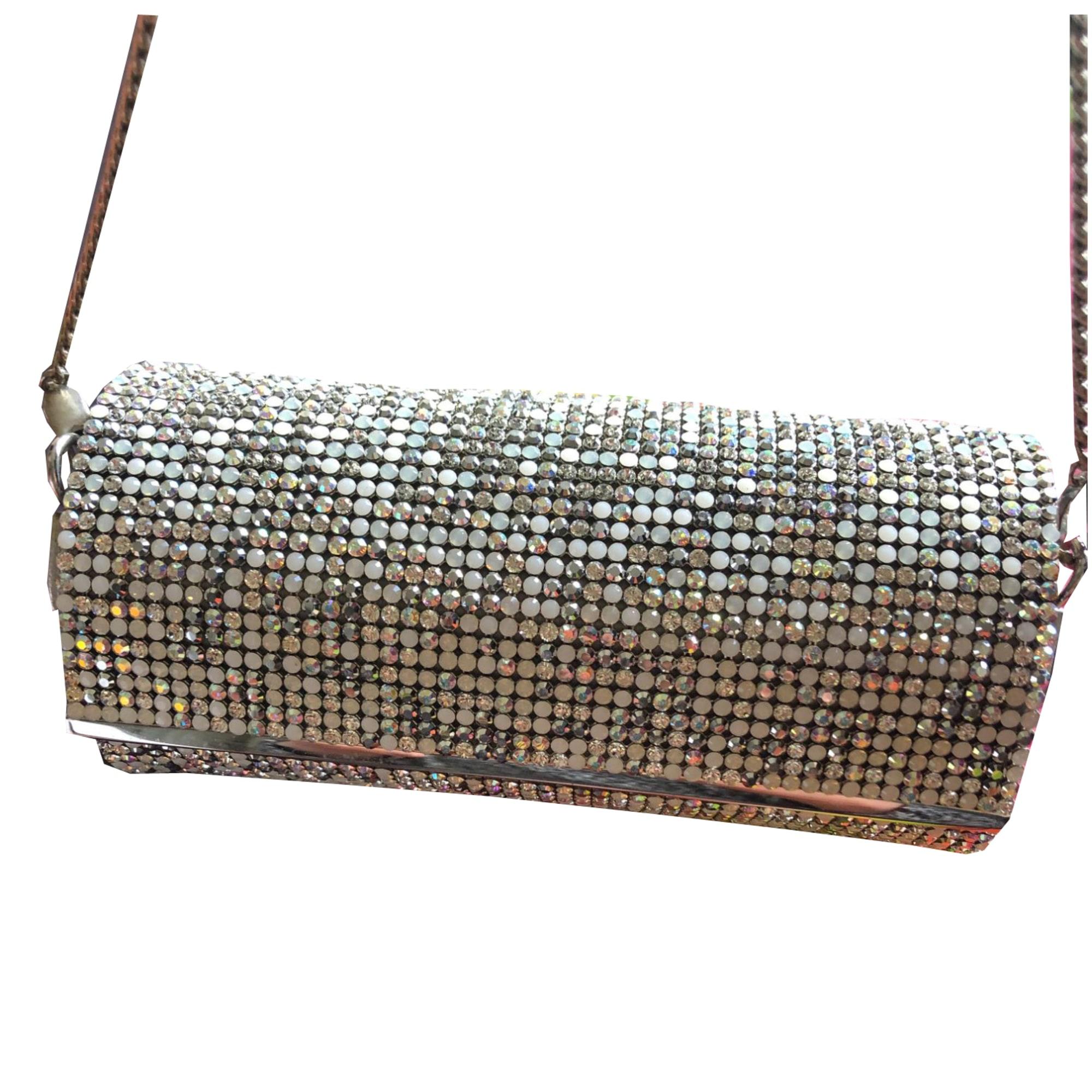sac argenté swaroski longchamp