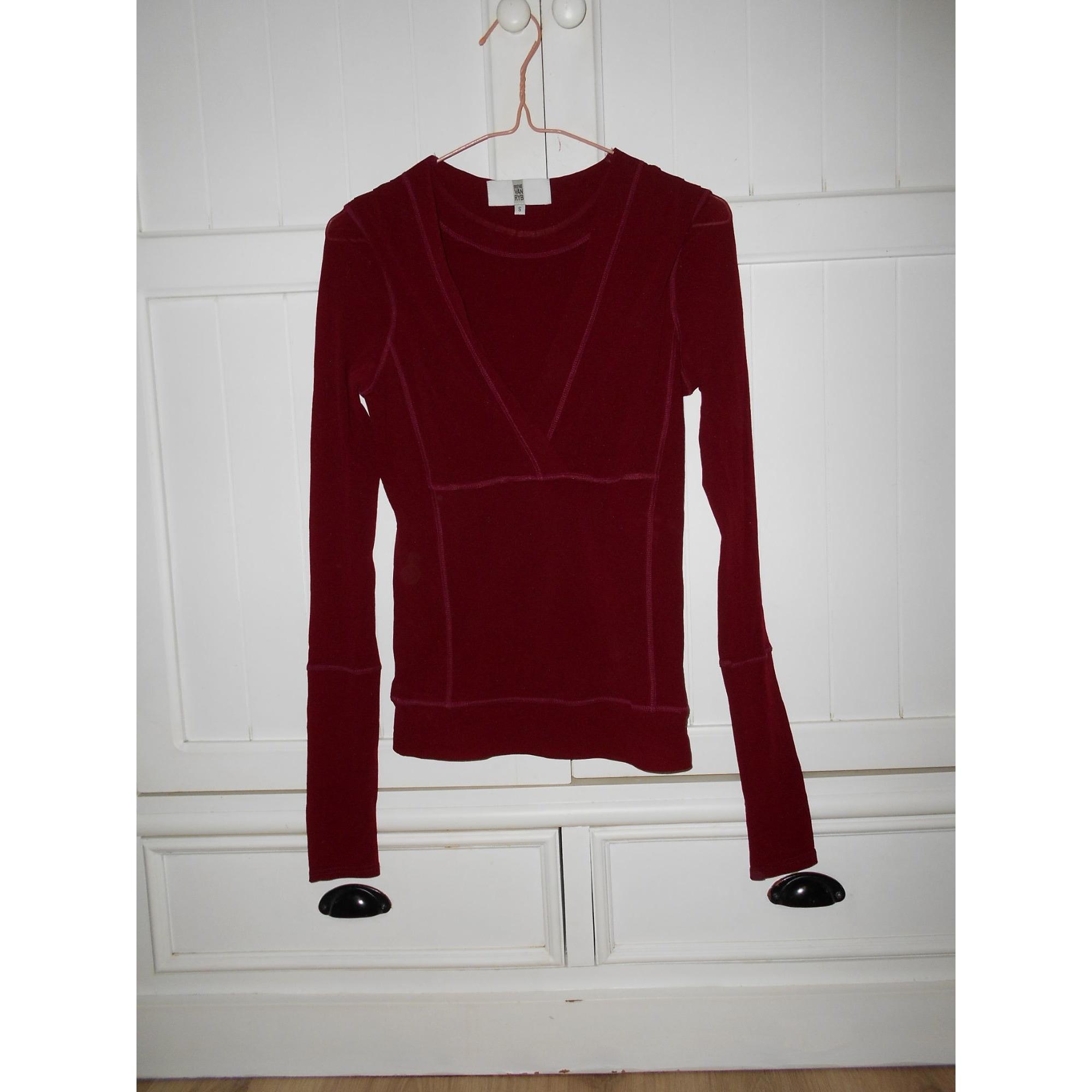 Top, tee-shirt IRENE VAN RYB Rouge, bordeaux