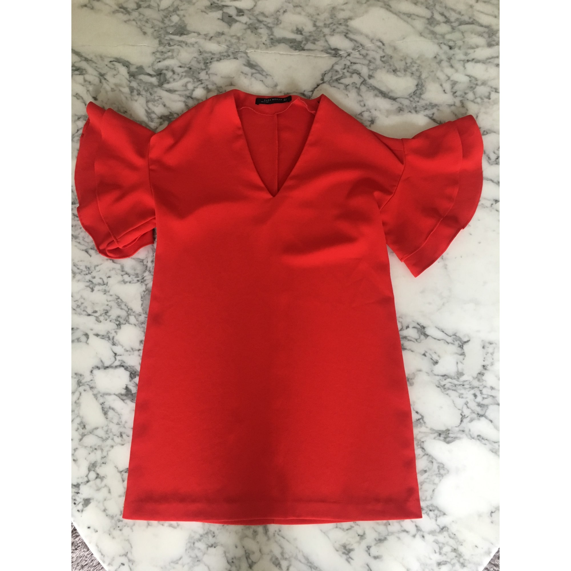 Robe courte ZARA Orange