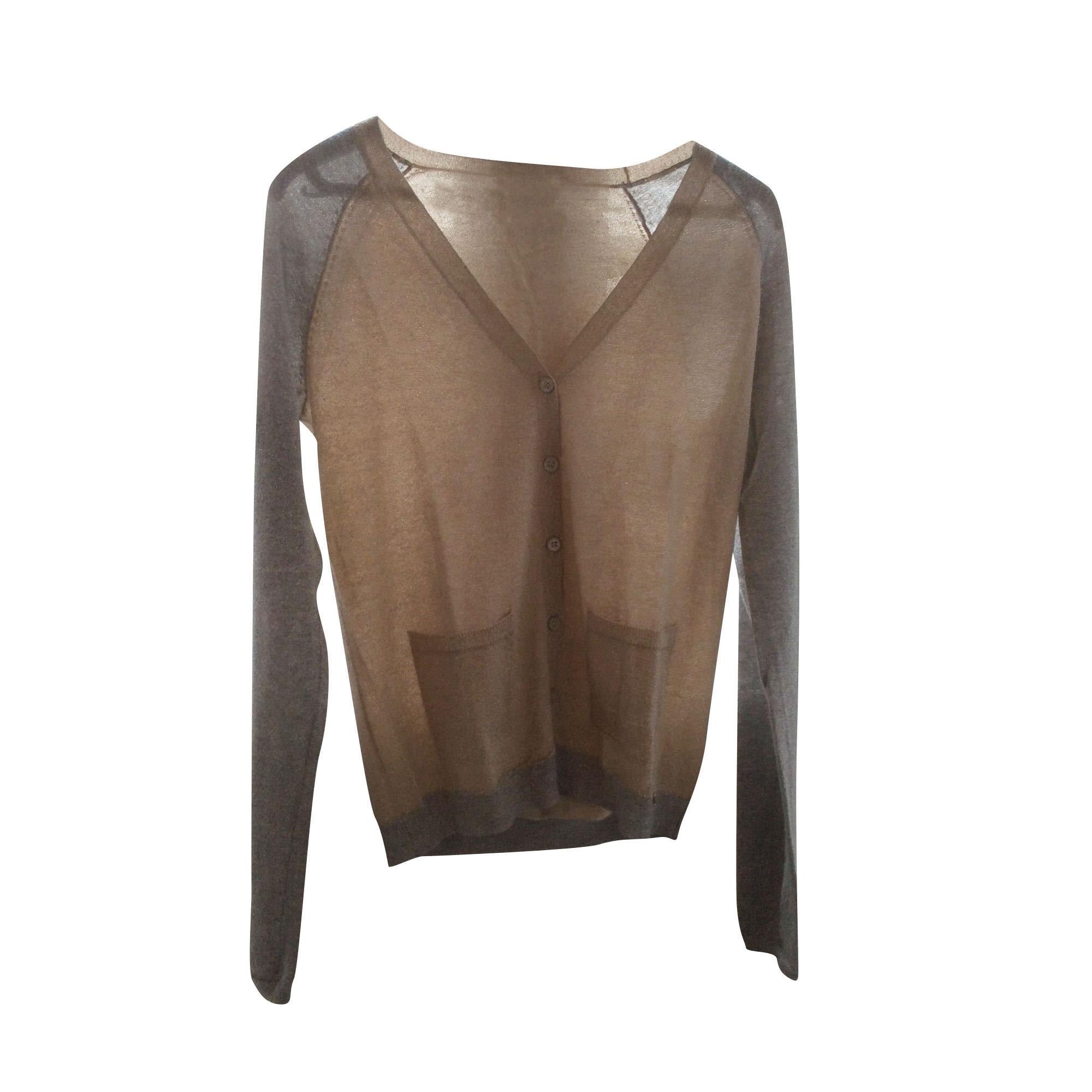 Gilet, cardigan DES PETITS HAUTS Doré, bronze, cuivre