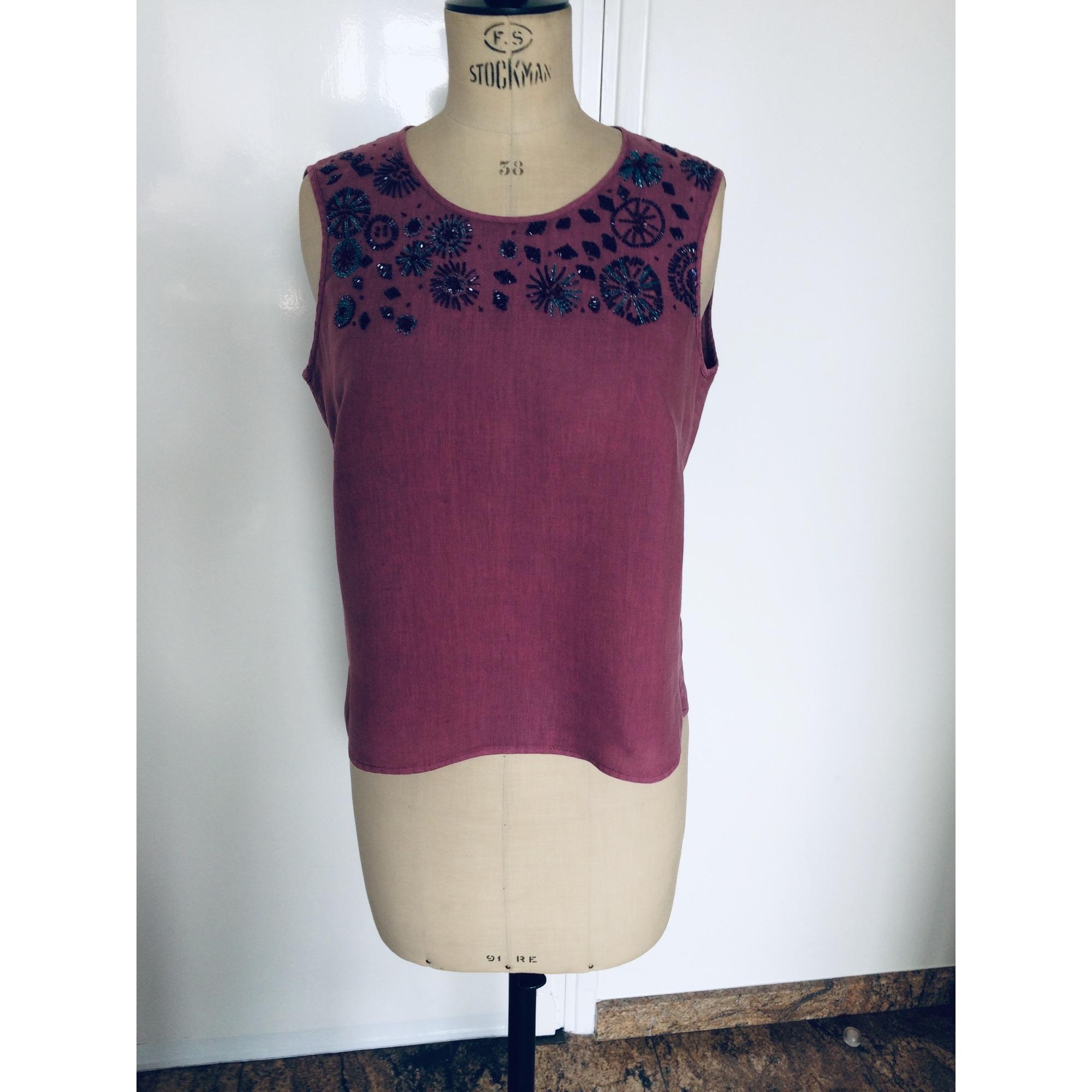 Top, tee-shirt ARMAND VENTILO Cassis / framboise