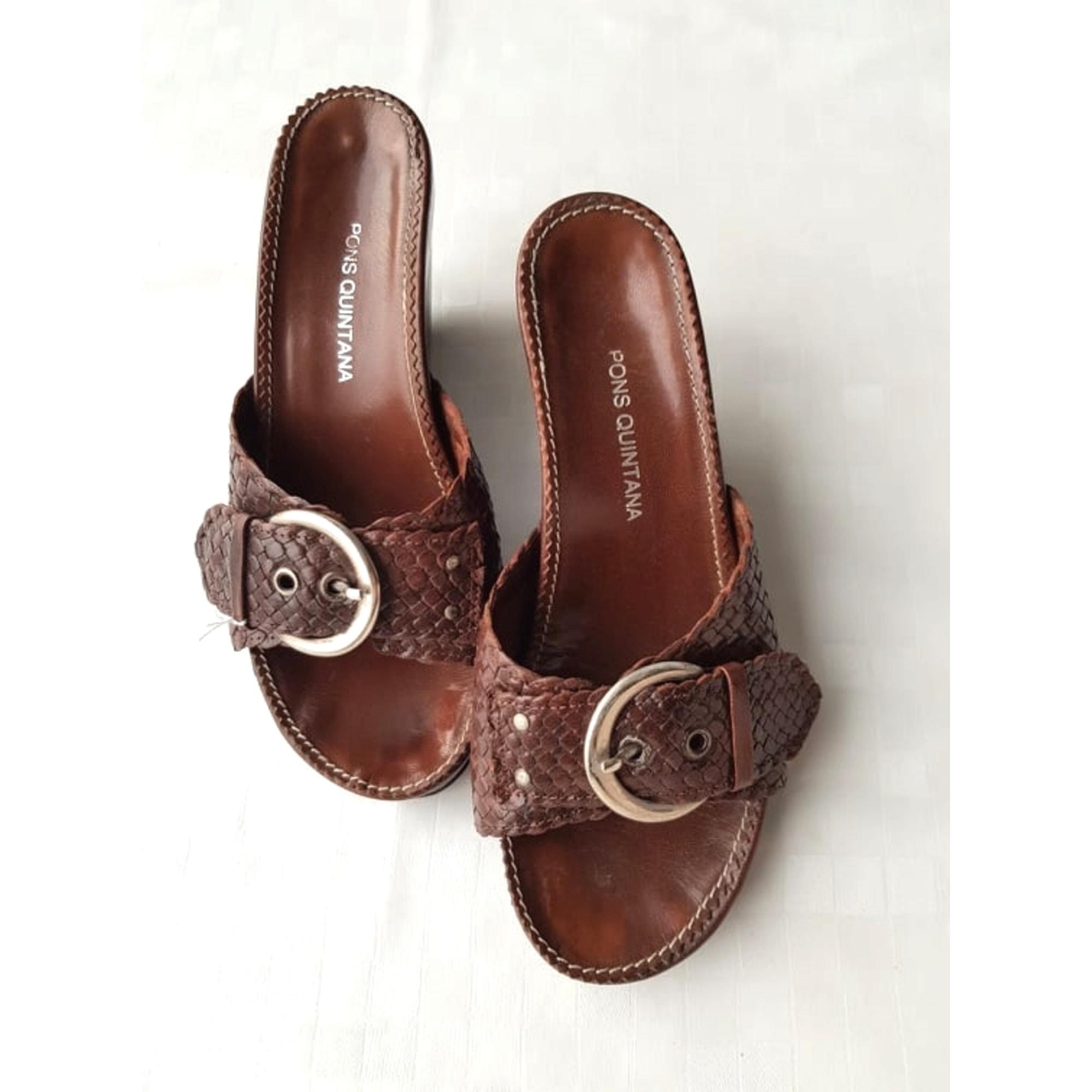 Sandales à talons PONS QUINTANA Marron