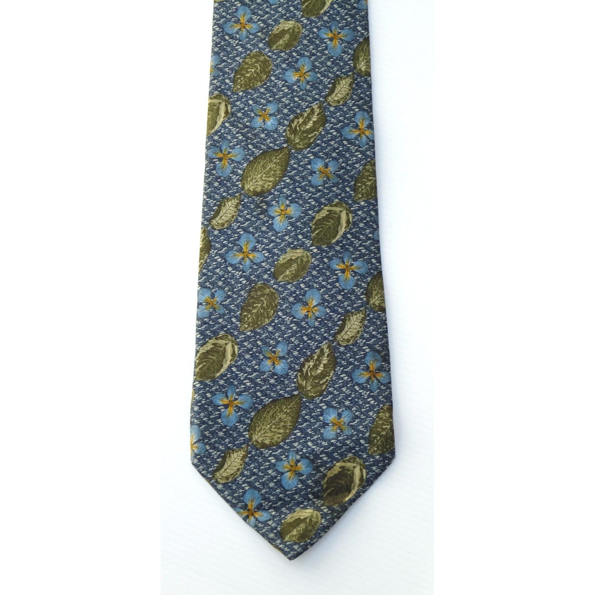 Cravate CACHAREL Bleu, bleu marine, bleu turquoise