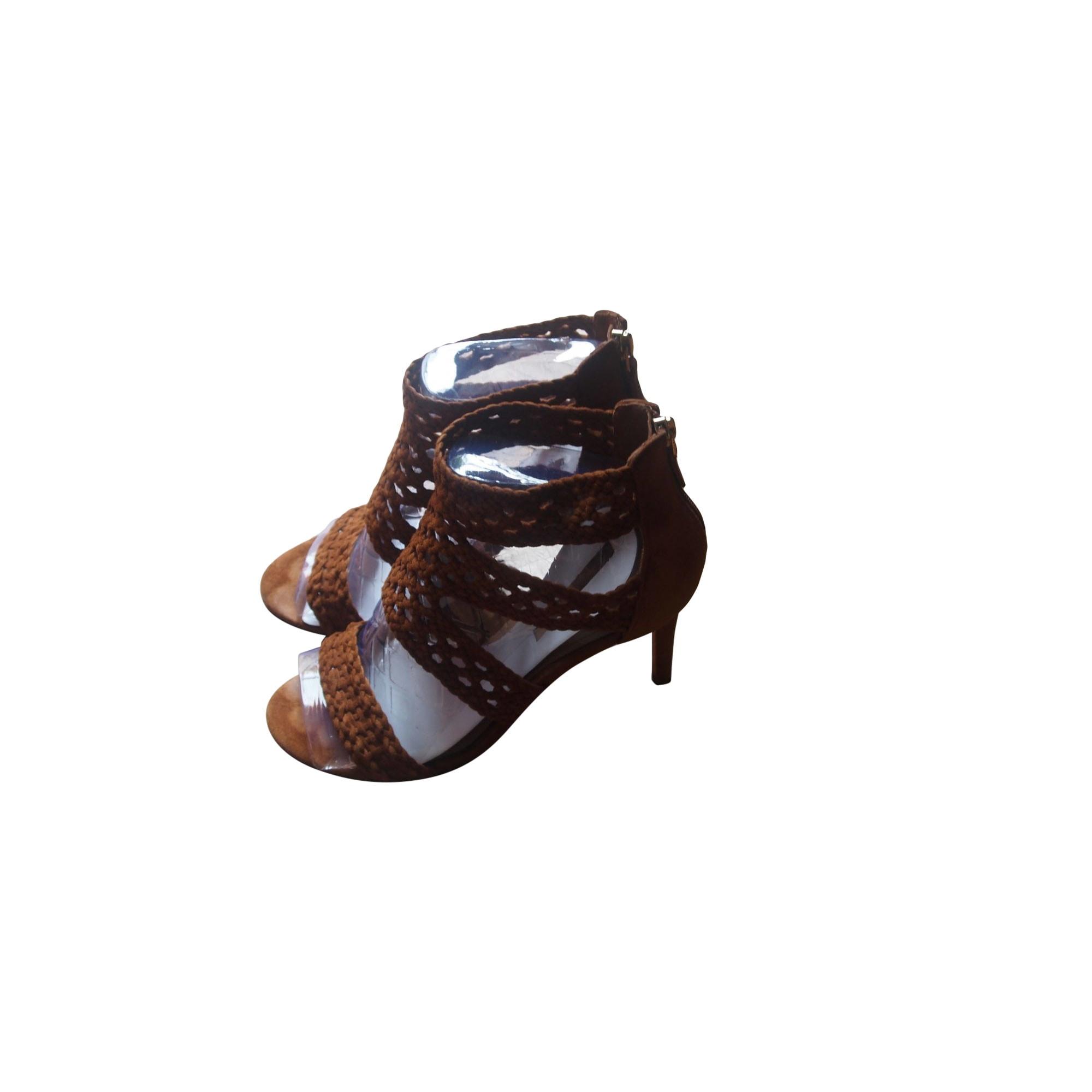Sandales à talons SANDRO Beige, camel