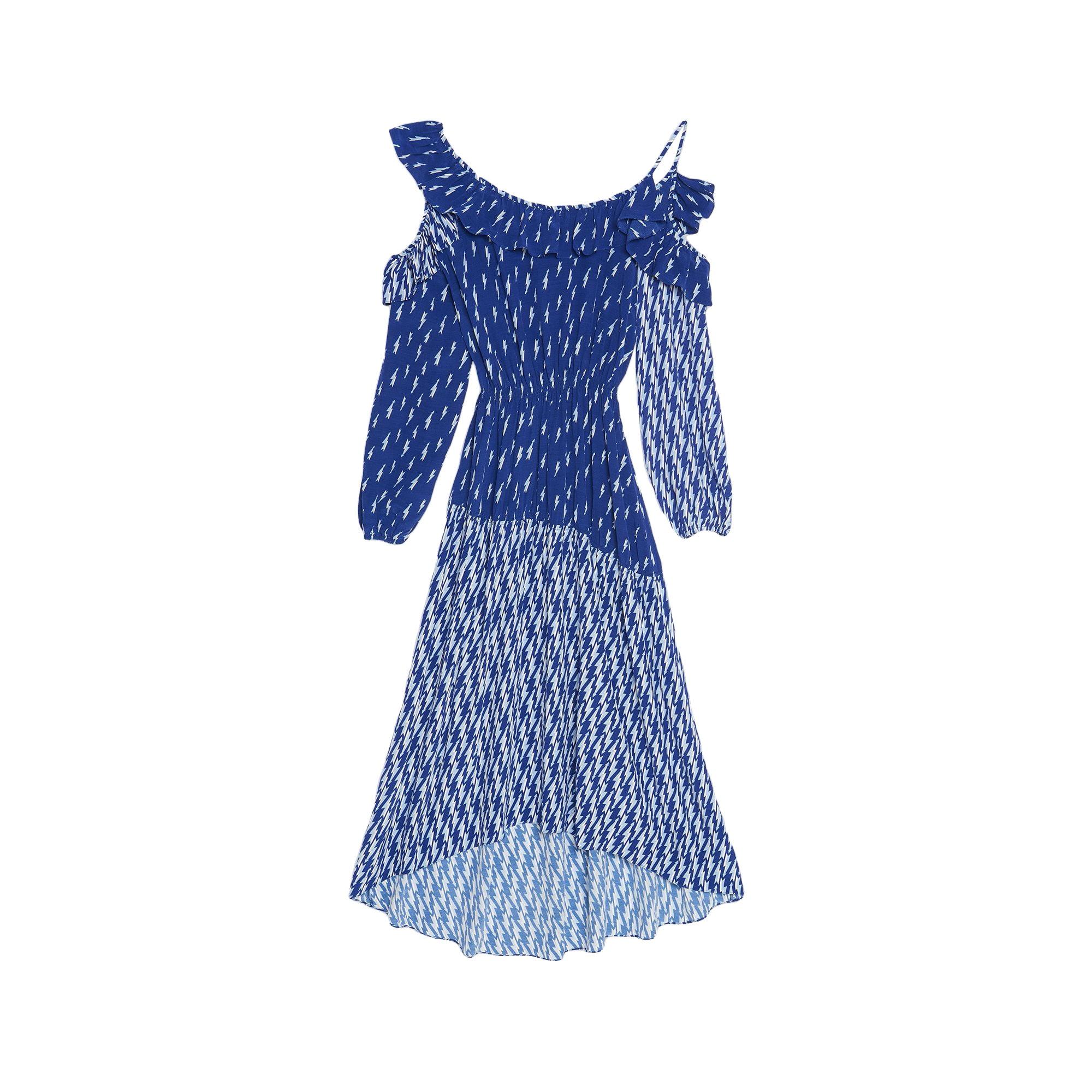 Robe mi-longue SANDRO Bleu, bleu marine, bleu turquoise