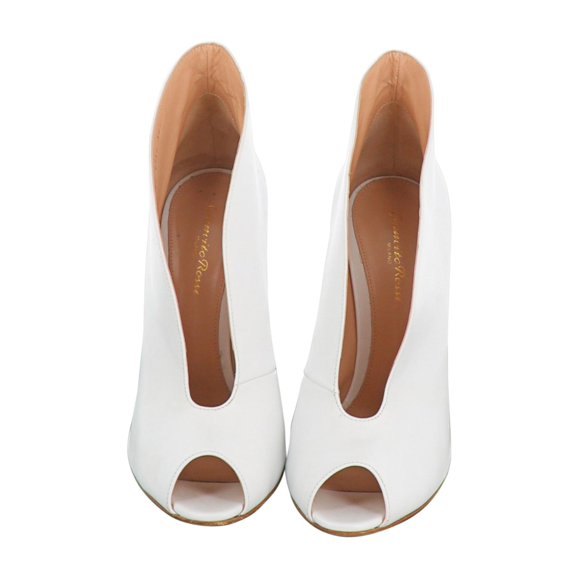 Bottines & low boots à talons GIANVITO ROSSI Blanc, blanc cassé, écru