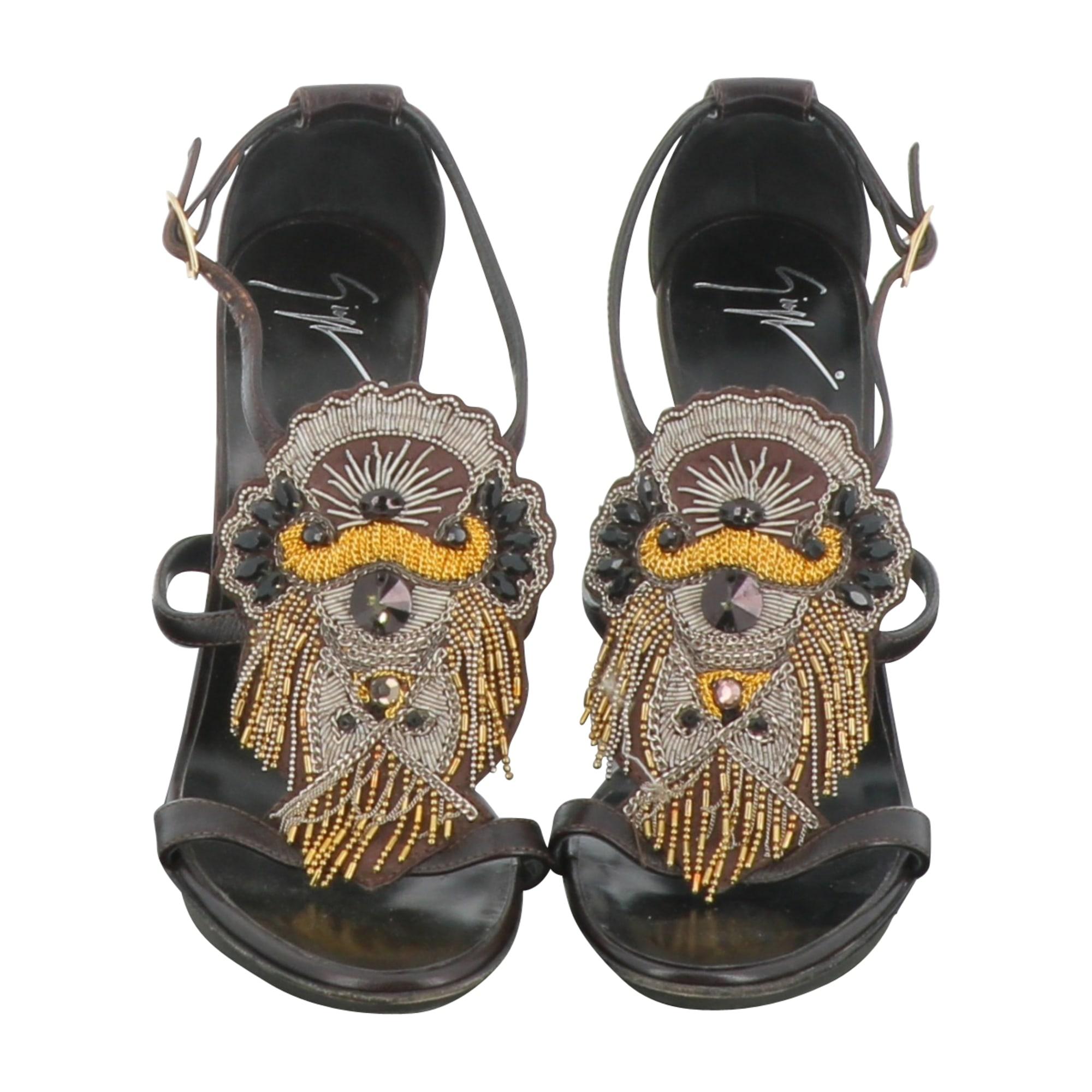 Sandales à talons GIUSEPPE ZANOTTI Marron