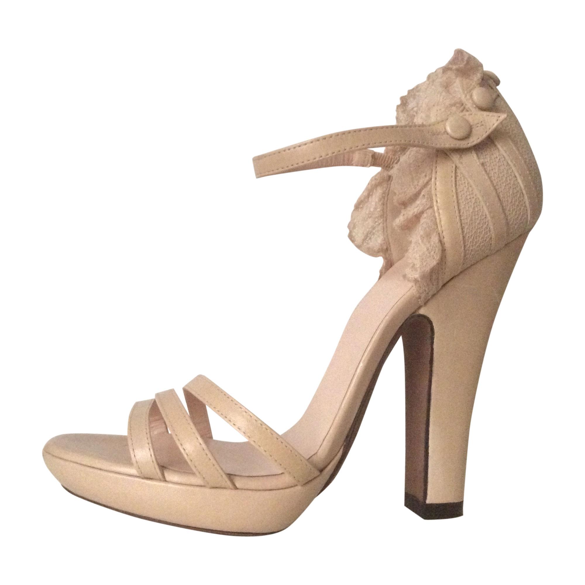 Sandales à talons NINA RICCI Beige, camel
