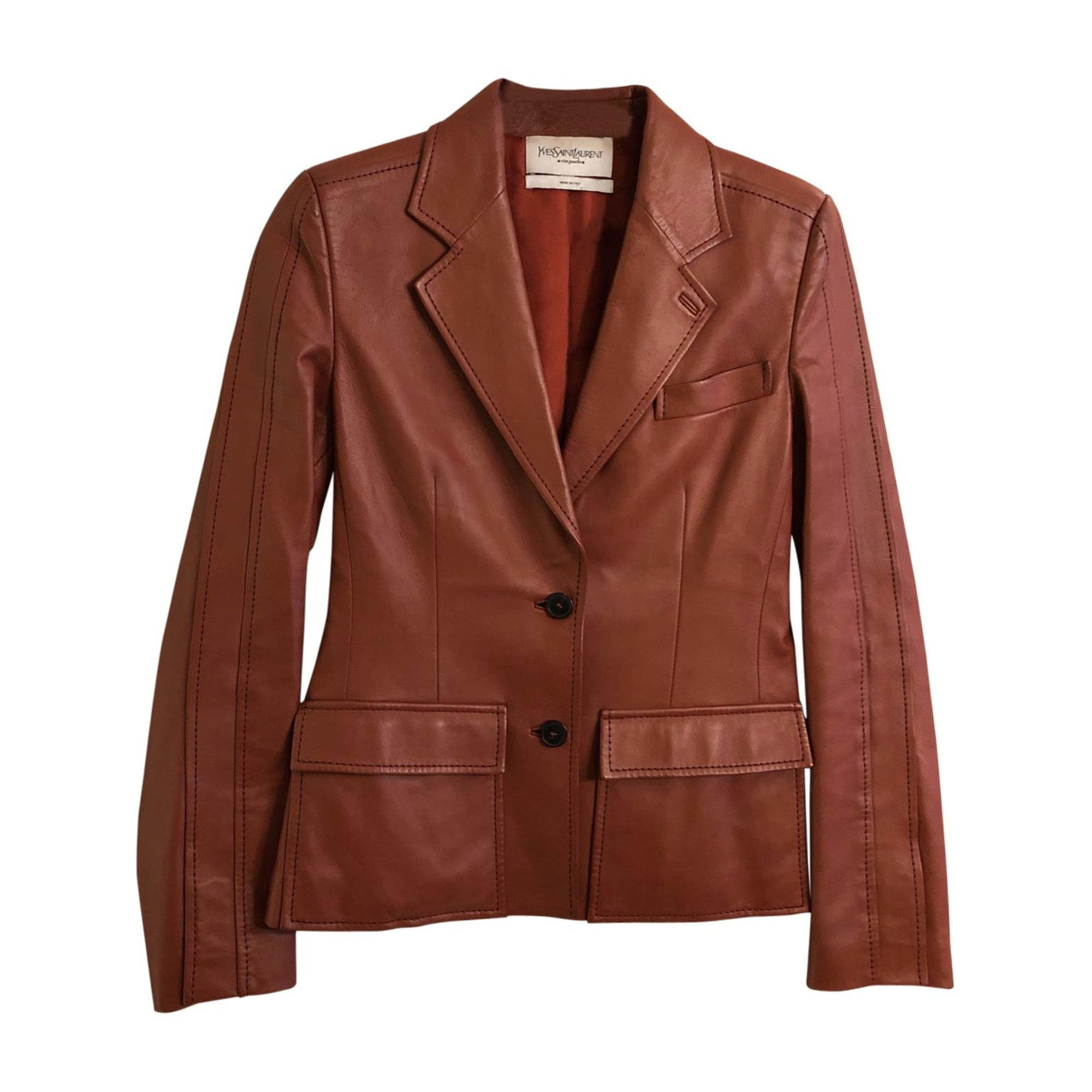 Jacket YVES SAINT LAURENT Rosso mattone