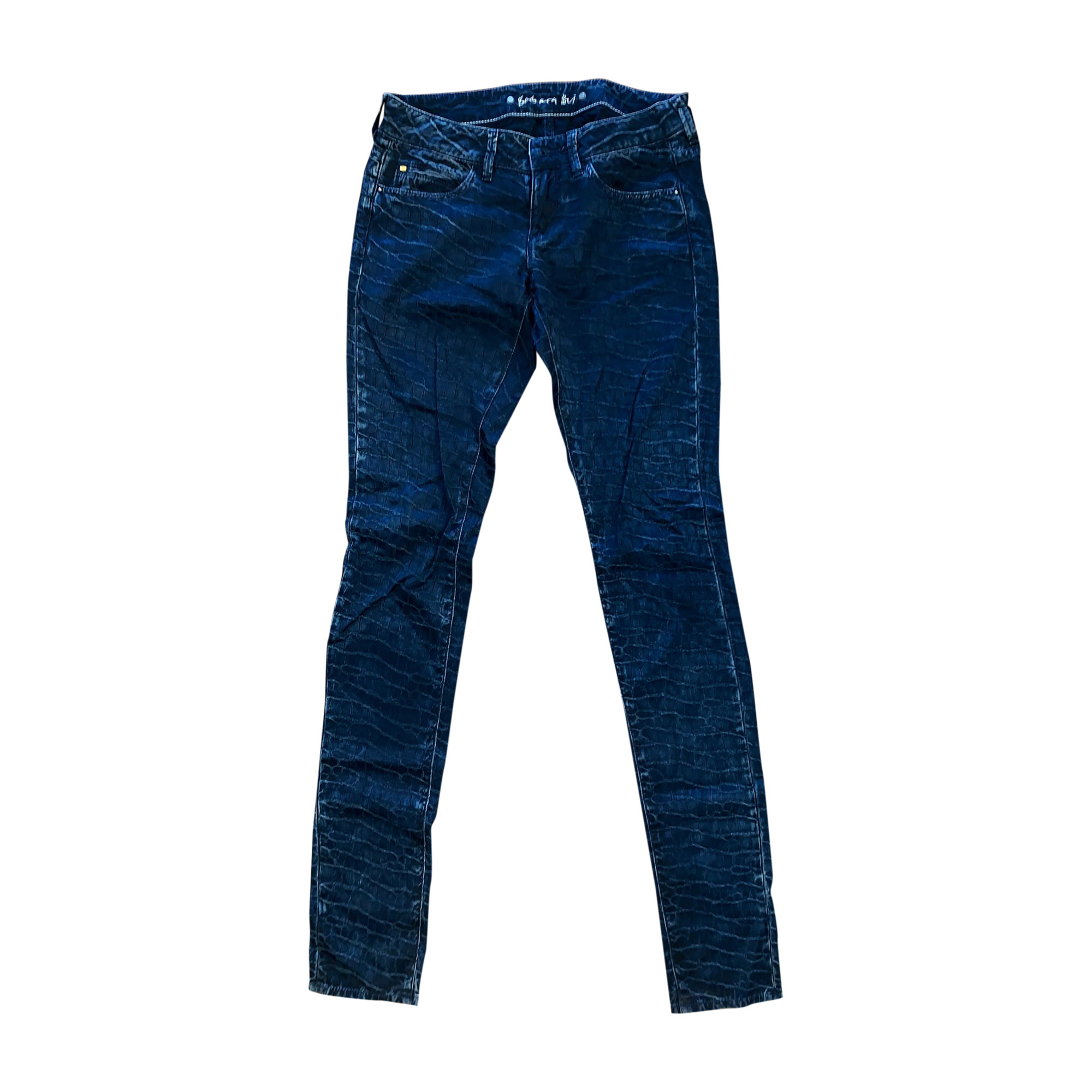 Pantalon slim, cigarette BARBARA BUI Bleu, bleu marine, bleu turquoise