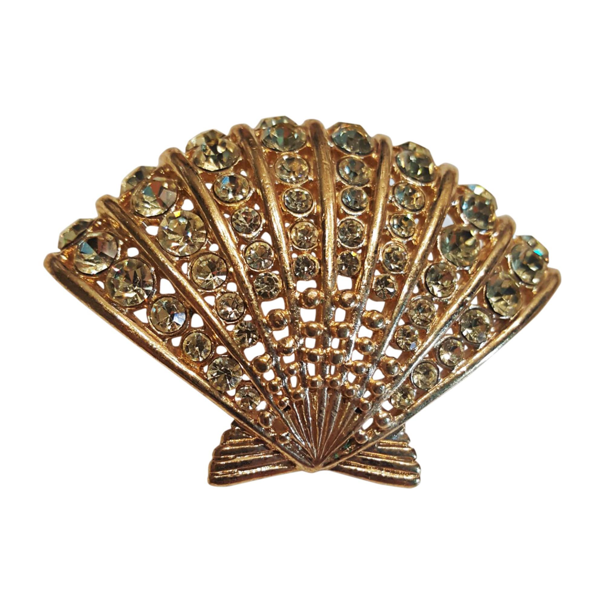 Broche VALENTINO Doré, bronze, cuivre