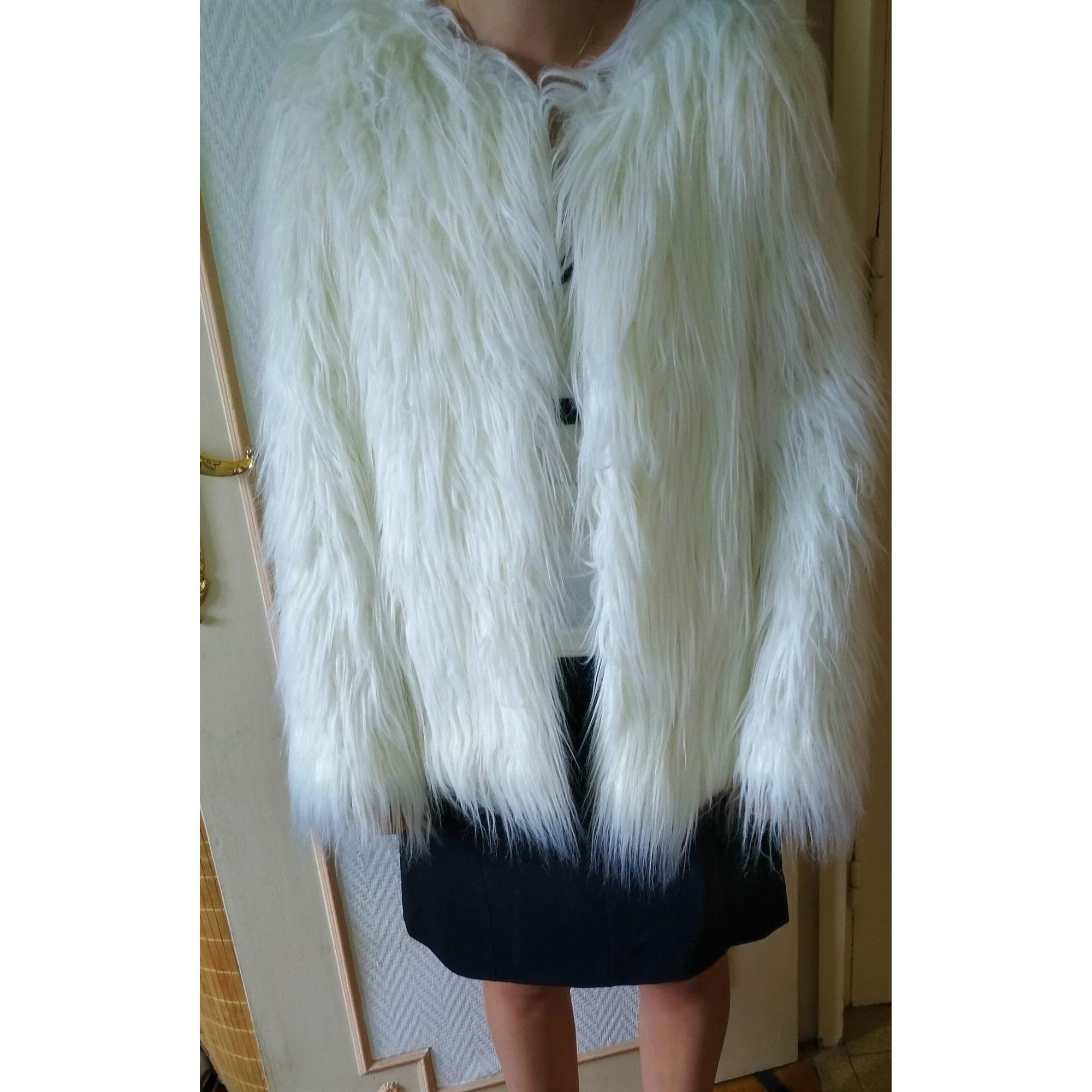 Blouson, veste en fourrure ZARA Blanc, blanc cassé, écru