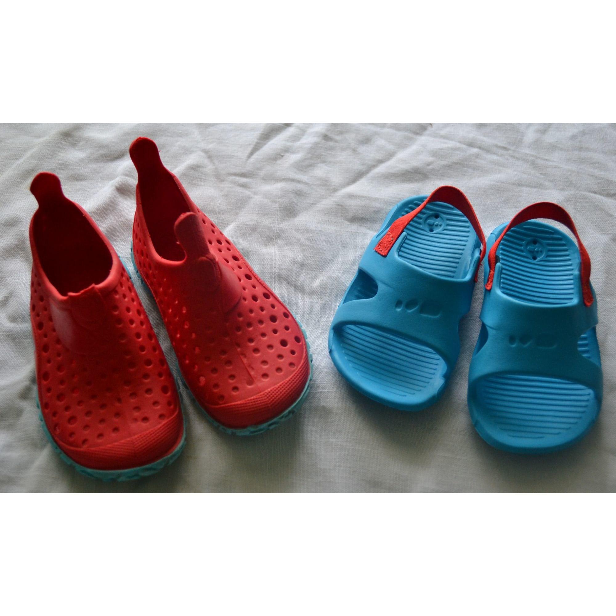 Sandales DÉCATHLON Rouge, bordeaux