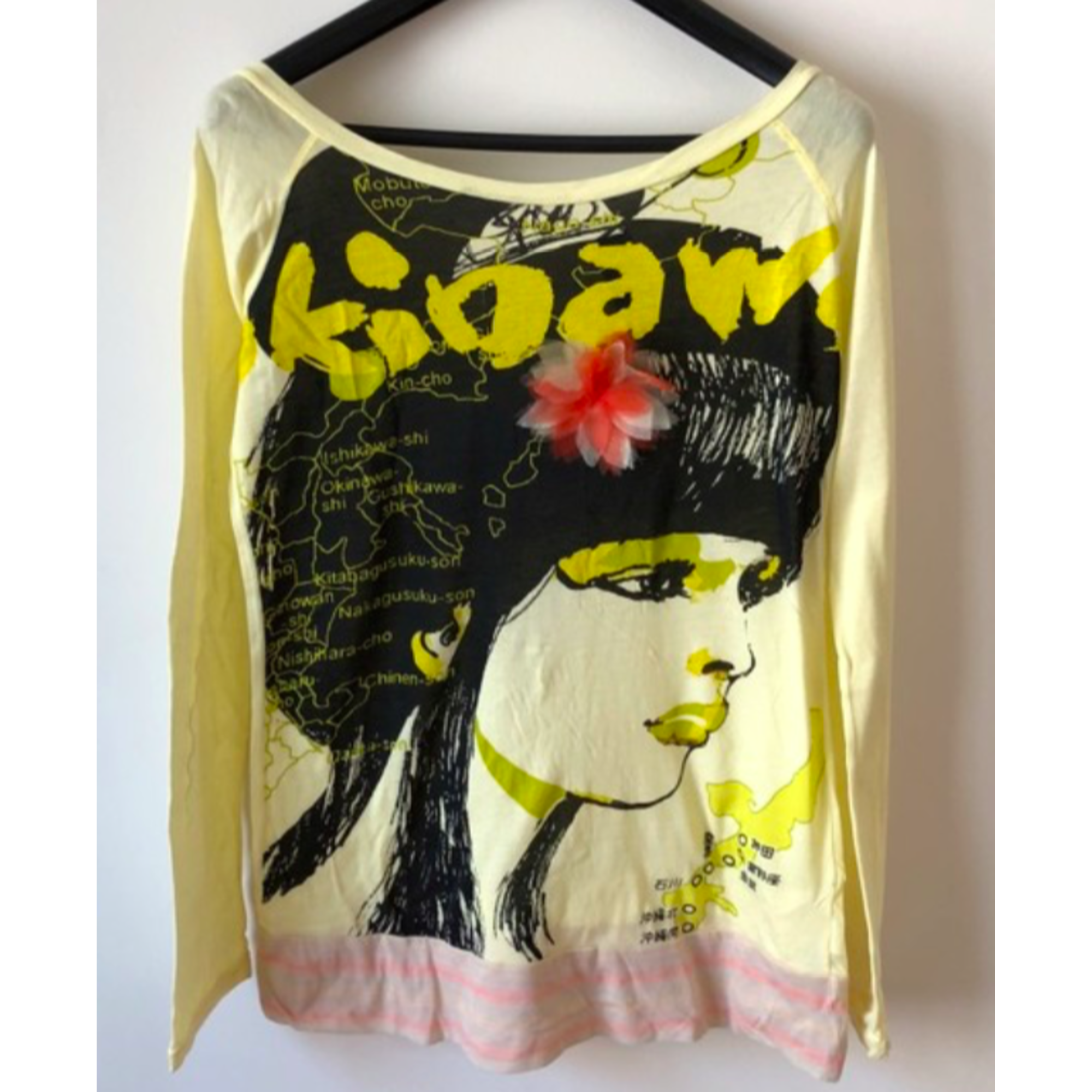 Top, tee-shirt CUSTO BARCELONA Jaune