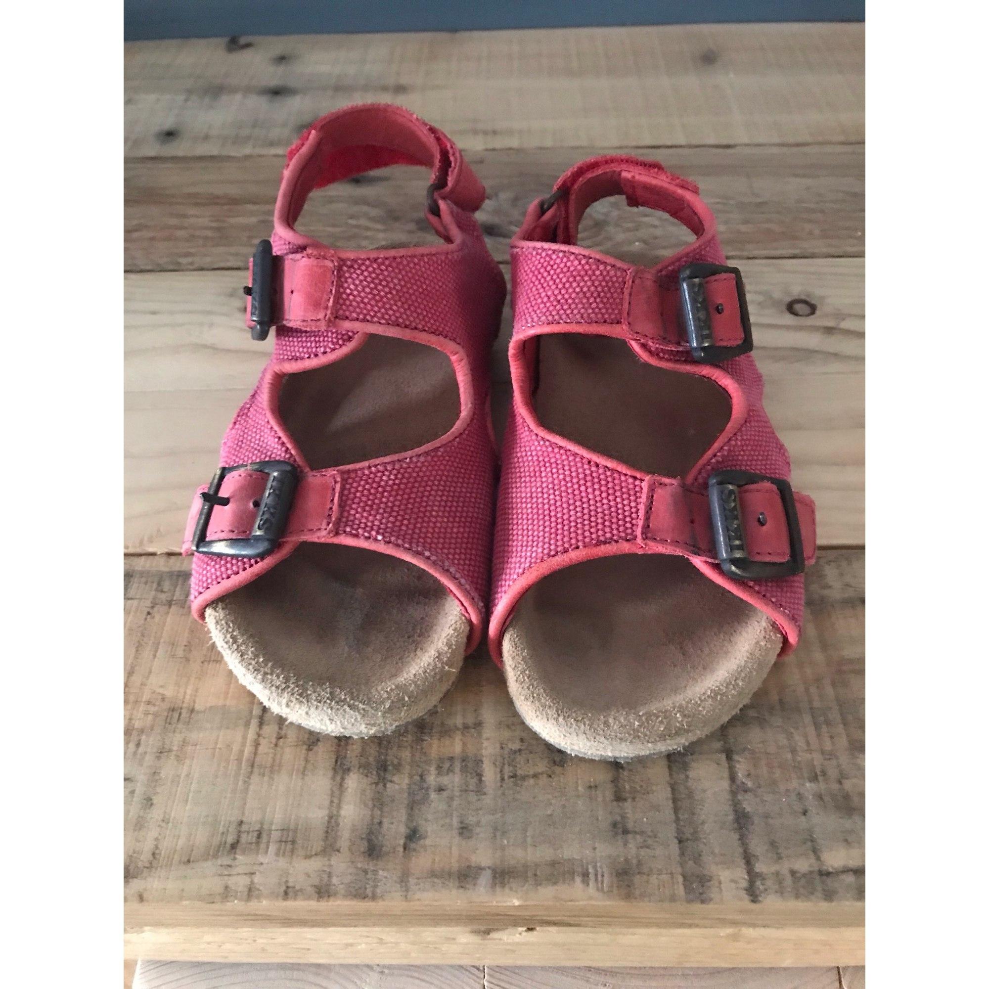 Sandales IKKS Rouge, bordeaux