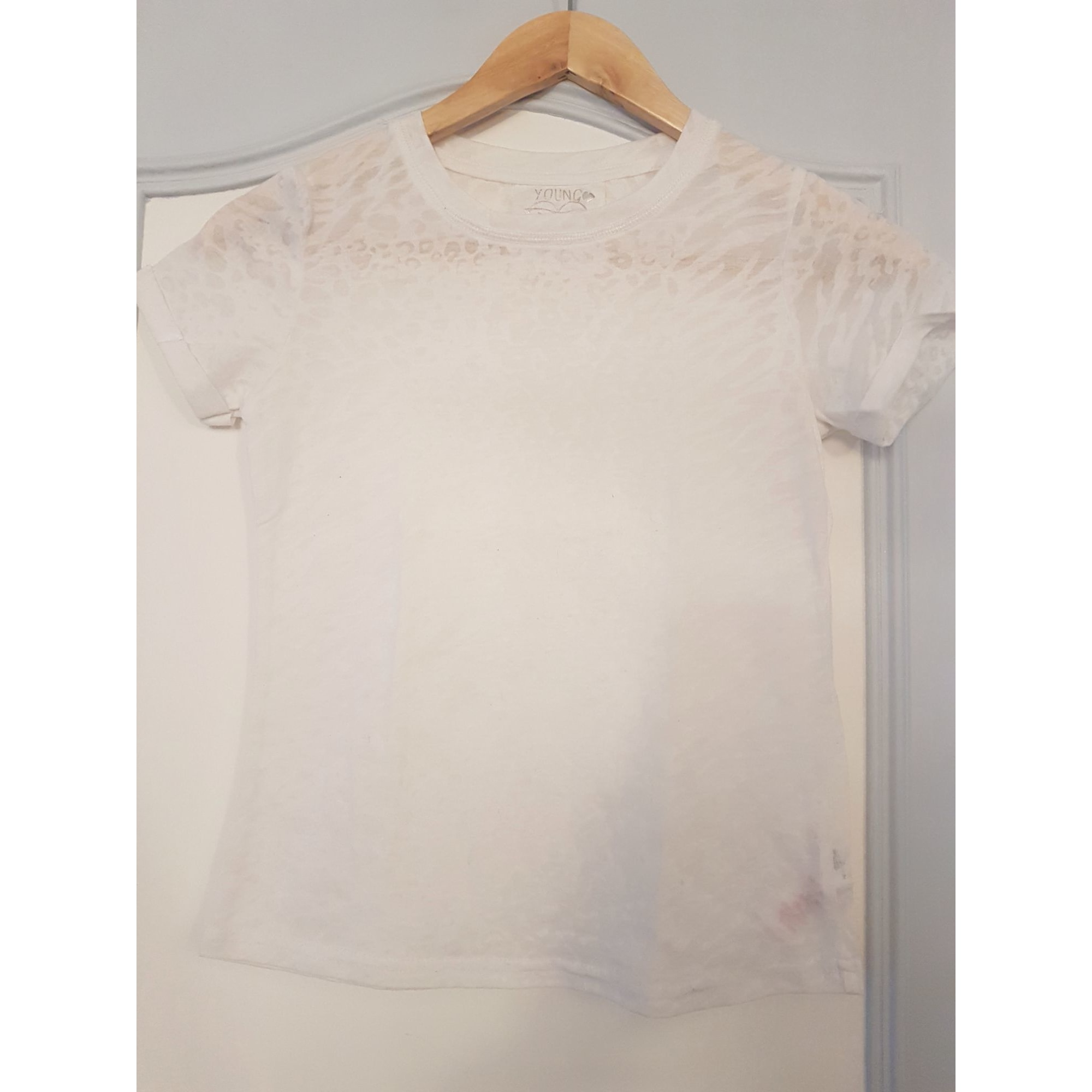 Top, Tee-shirt YOUNG DIMENSION Blanc, blanc cassé, écru