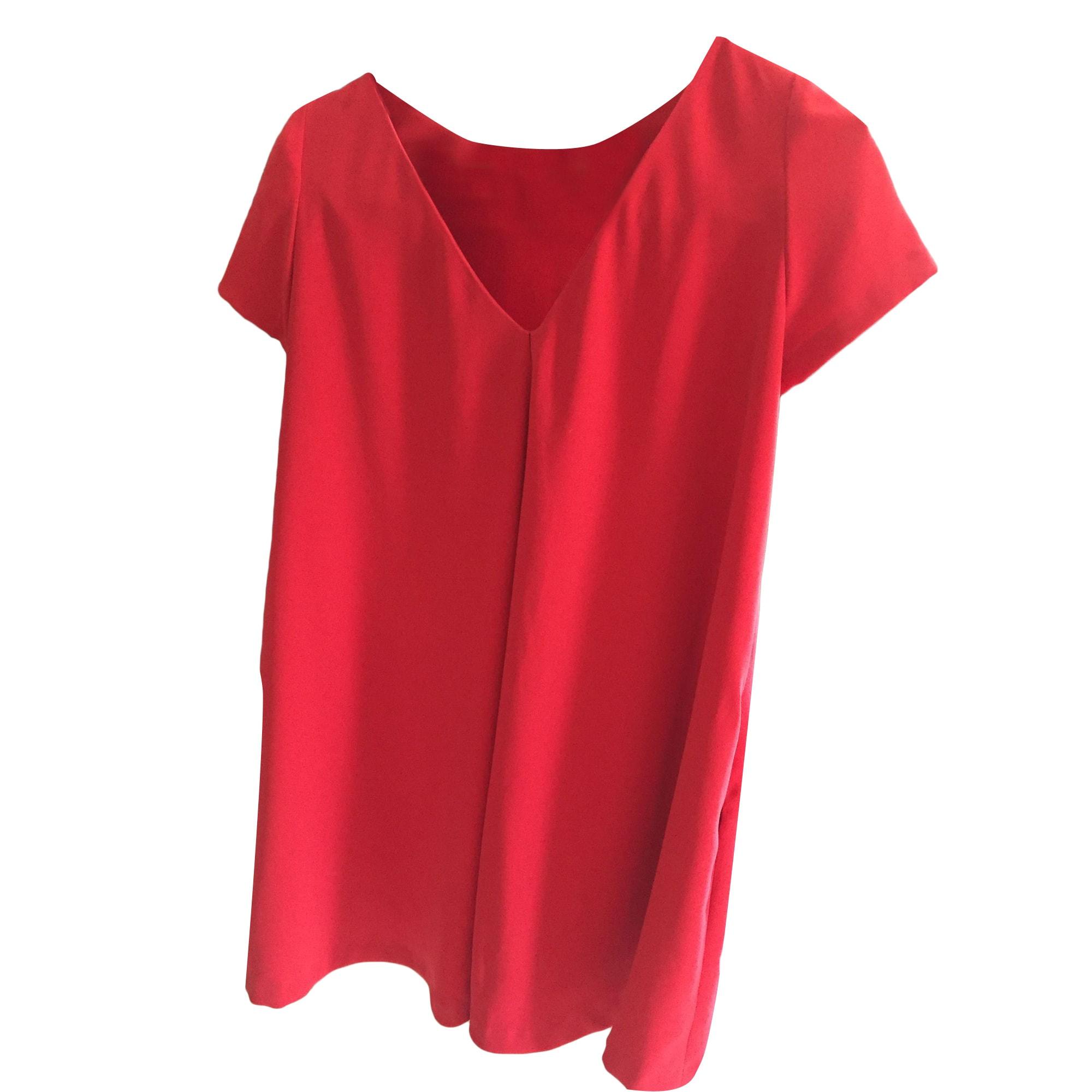 Robe courte TARA JARMON Rouge, bordeaux