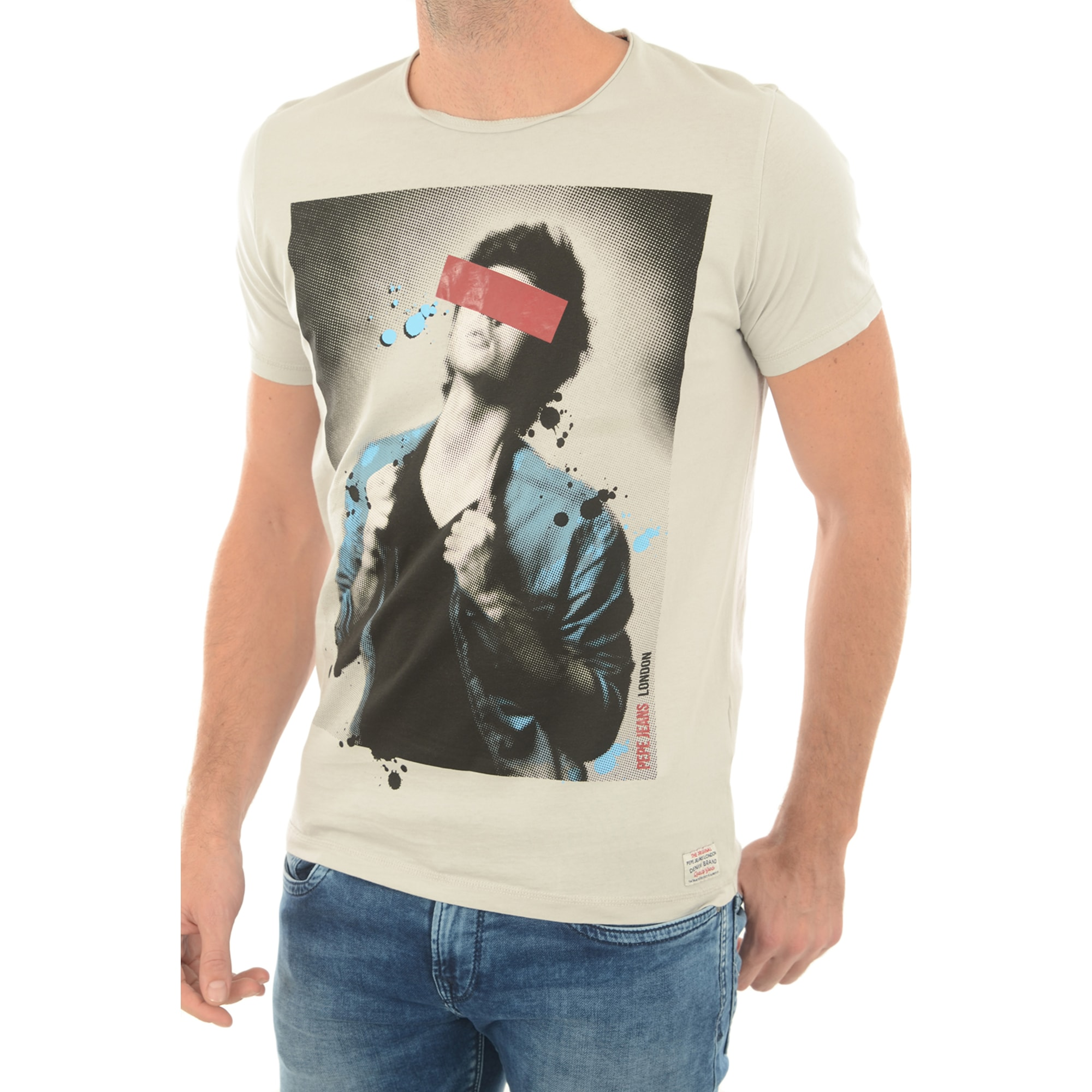 Tee-shirt PEPE JEANS Gris, anthracite