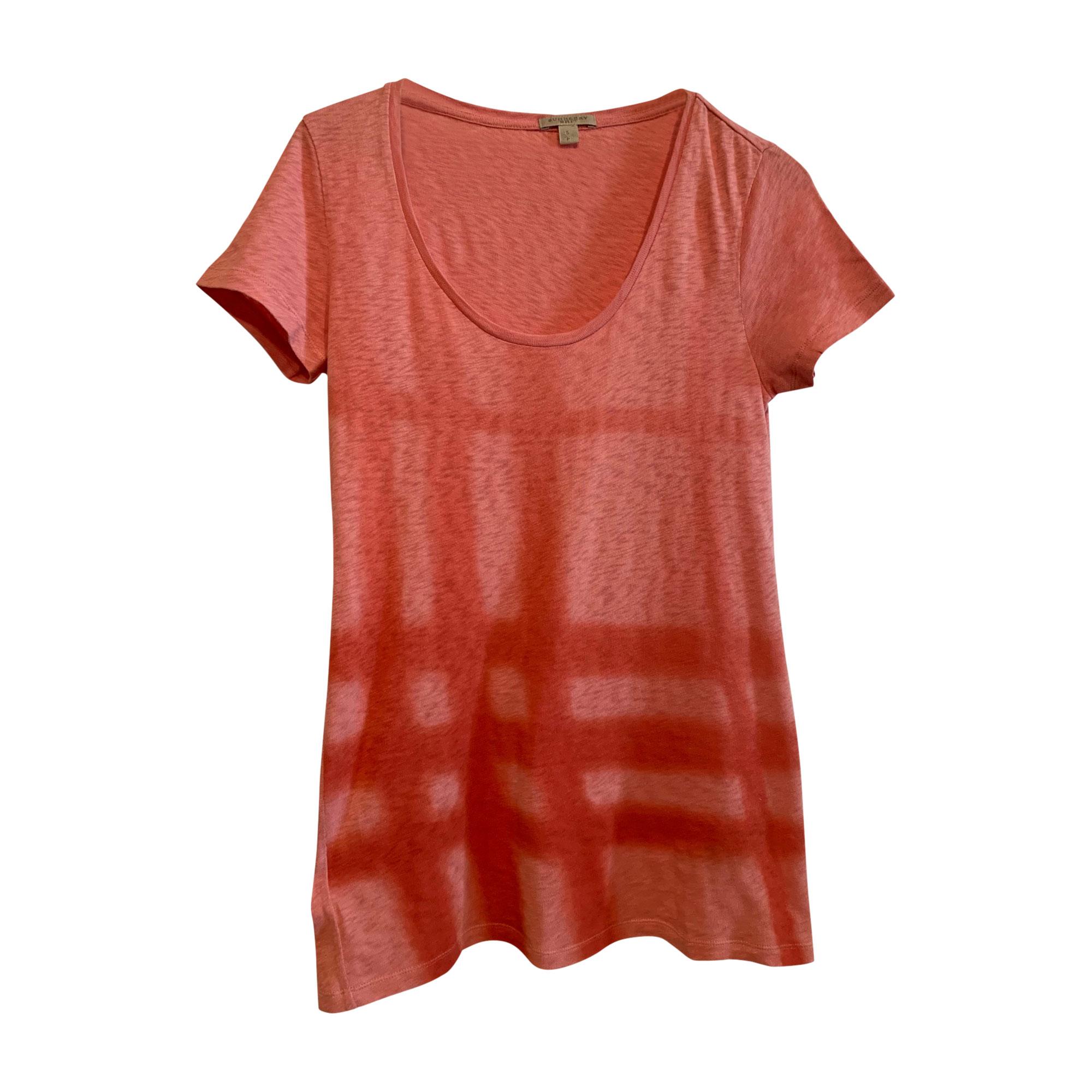 Top, T-shirt BURBERRY Pink, fuchsia, light pink