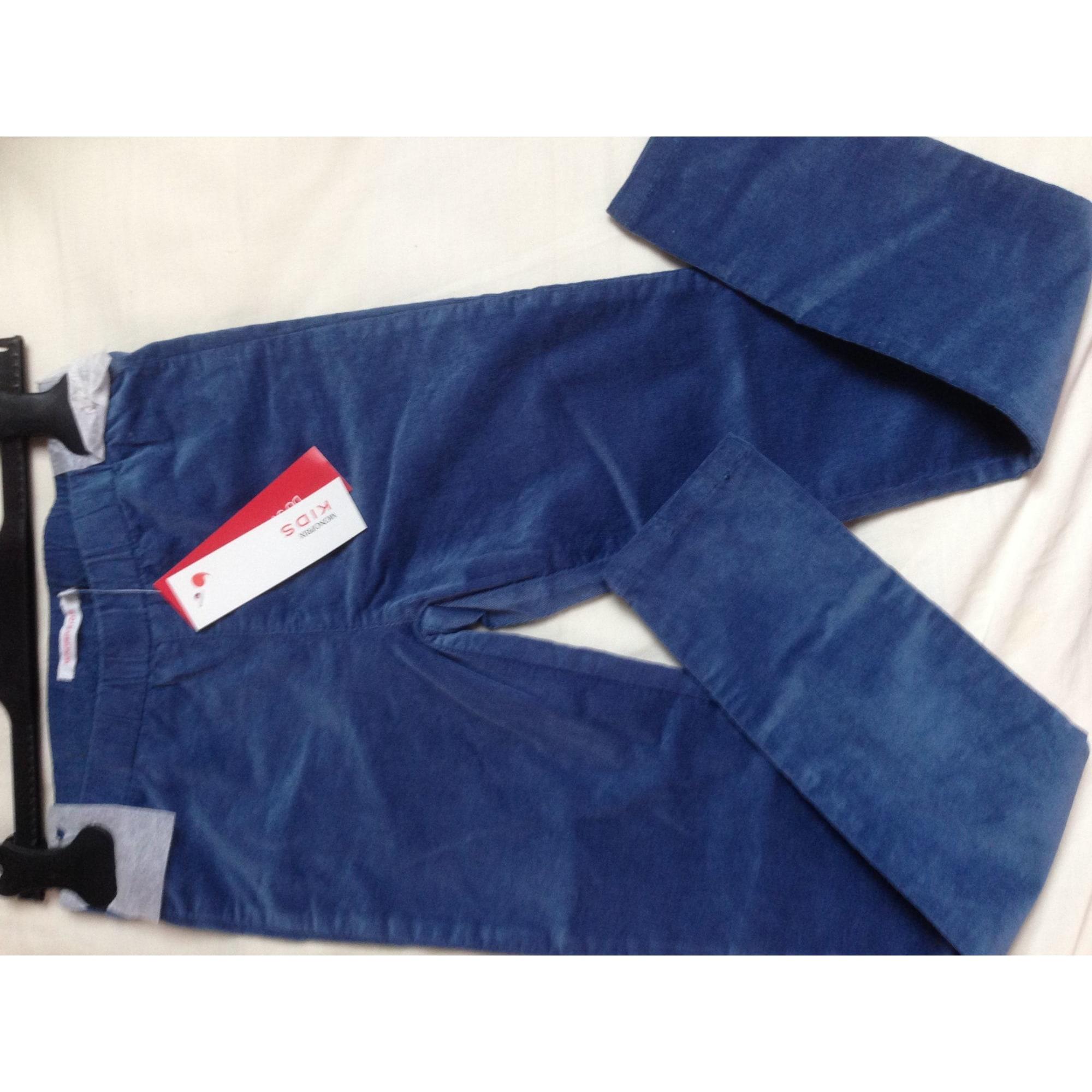 Pantalon MONOPRIX Bleu, bleu marine, bleu turquoise