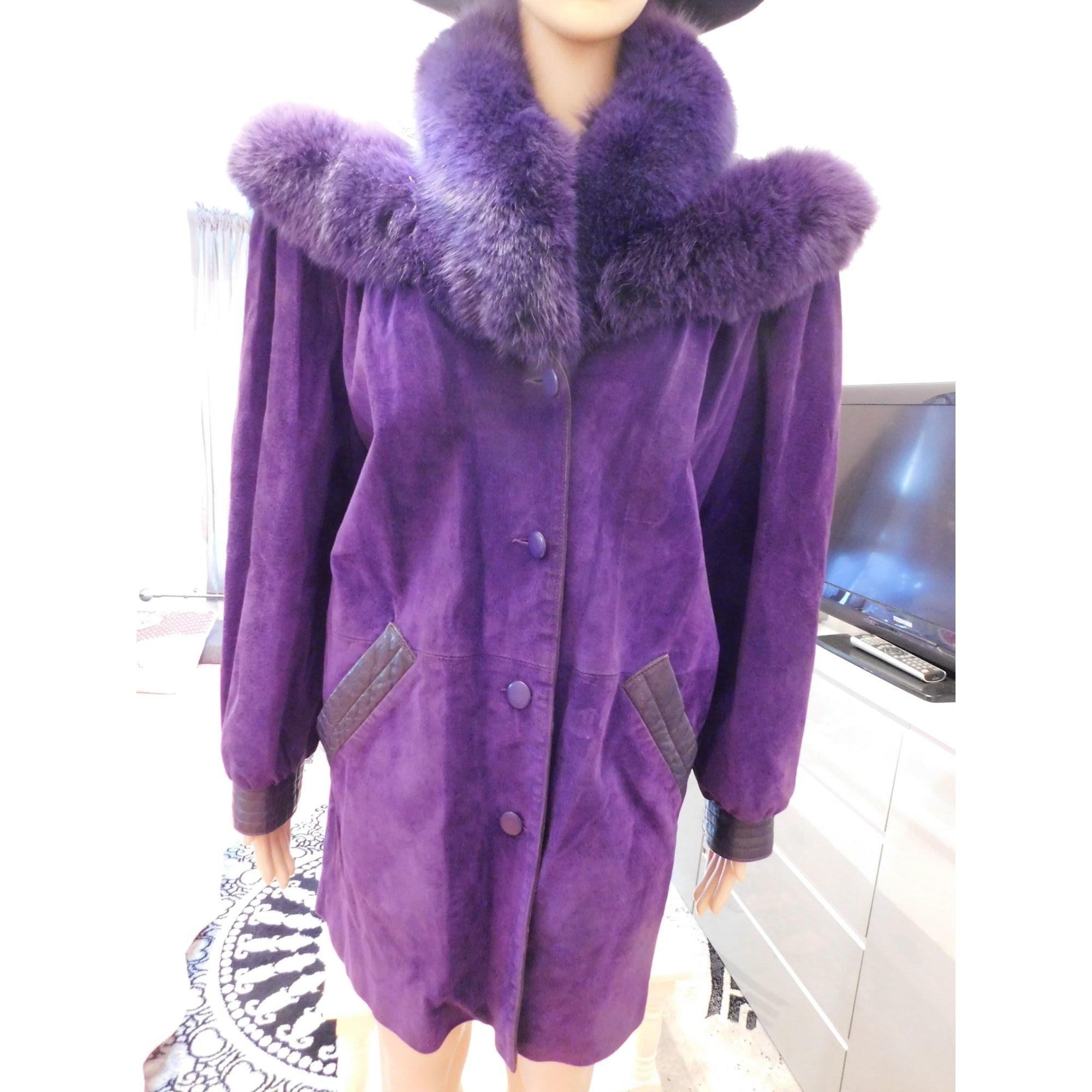 Blouson, veste en fourrure REGINAPARY Violet, mauve, lavande