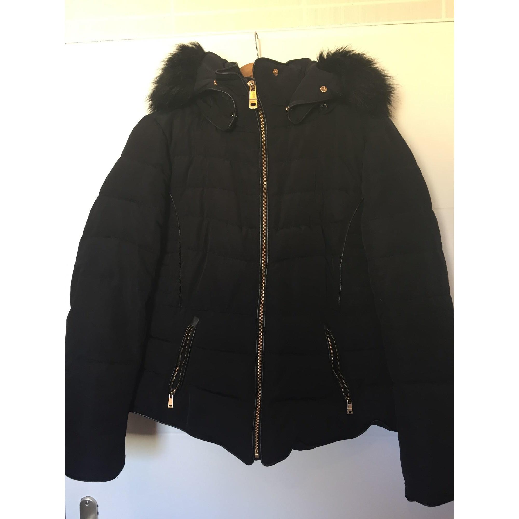 Zara Zip Manteau Noir XL   eBay
