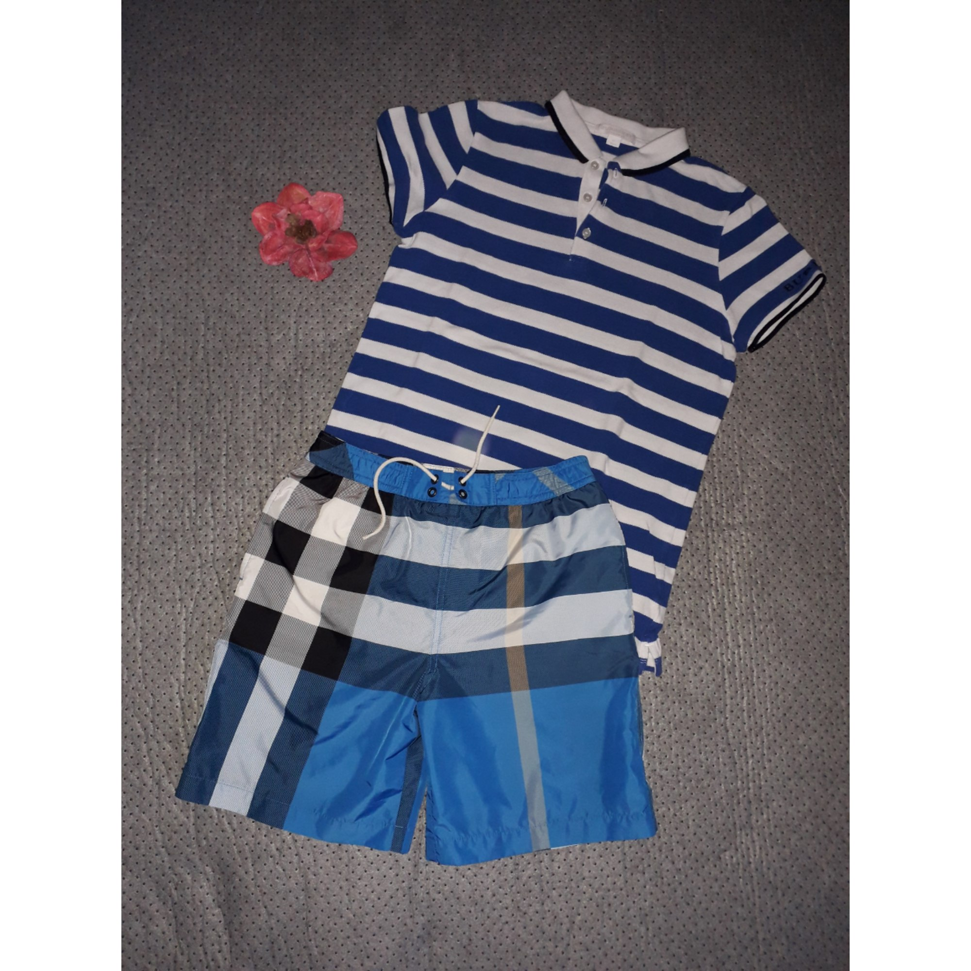 Shorts Set, Outfit BURBERRY Blue, navy, turquoise