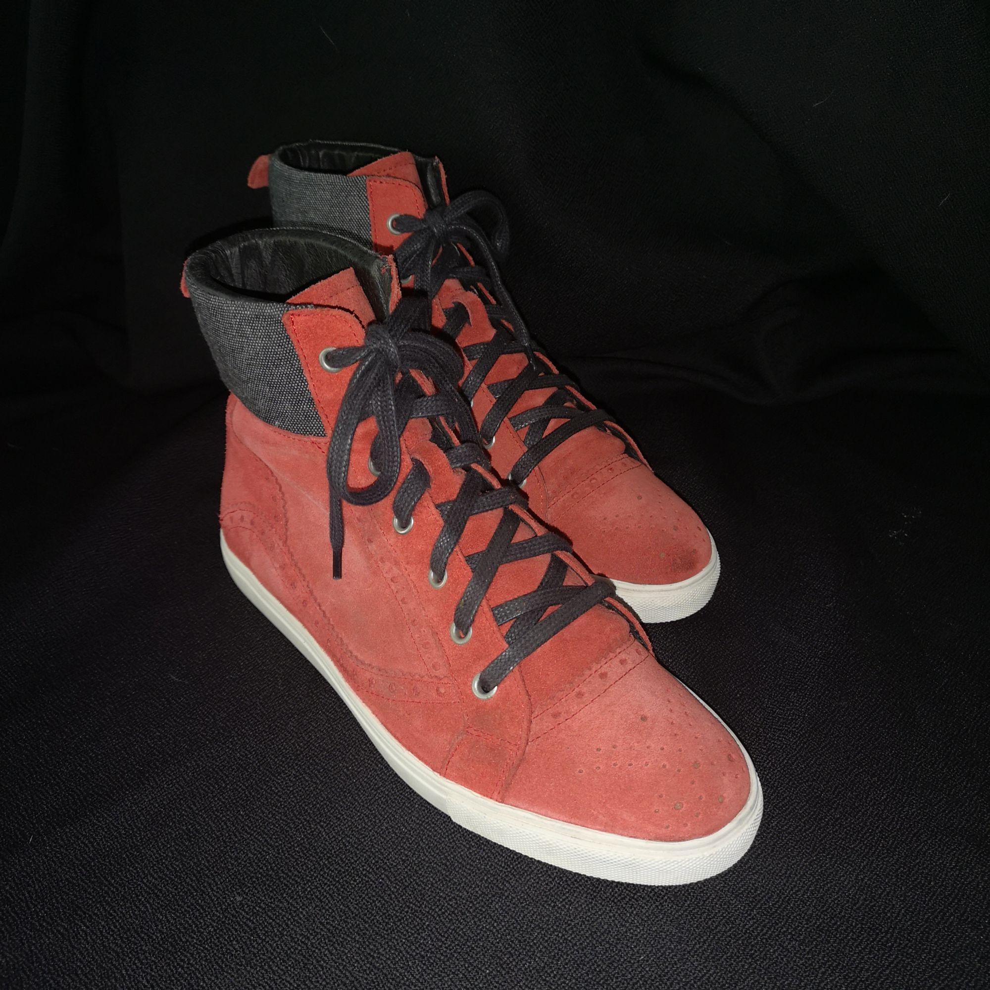 Baskets SERGE BLANCO Rouge, bordeaux