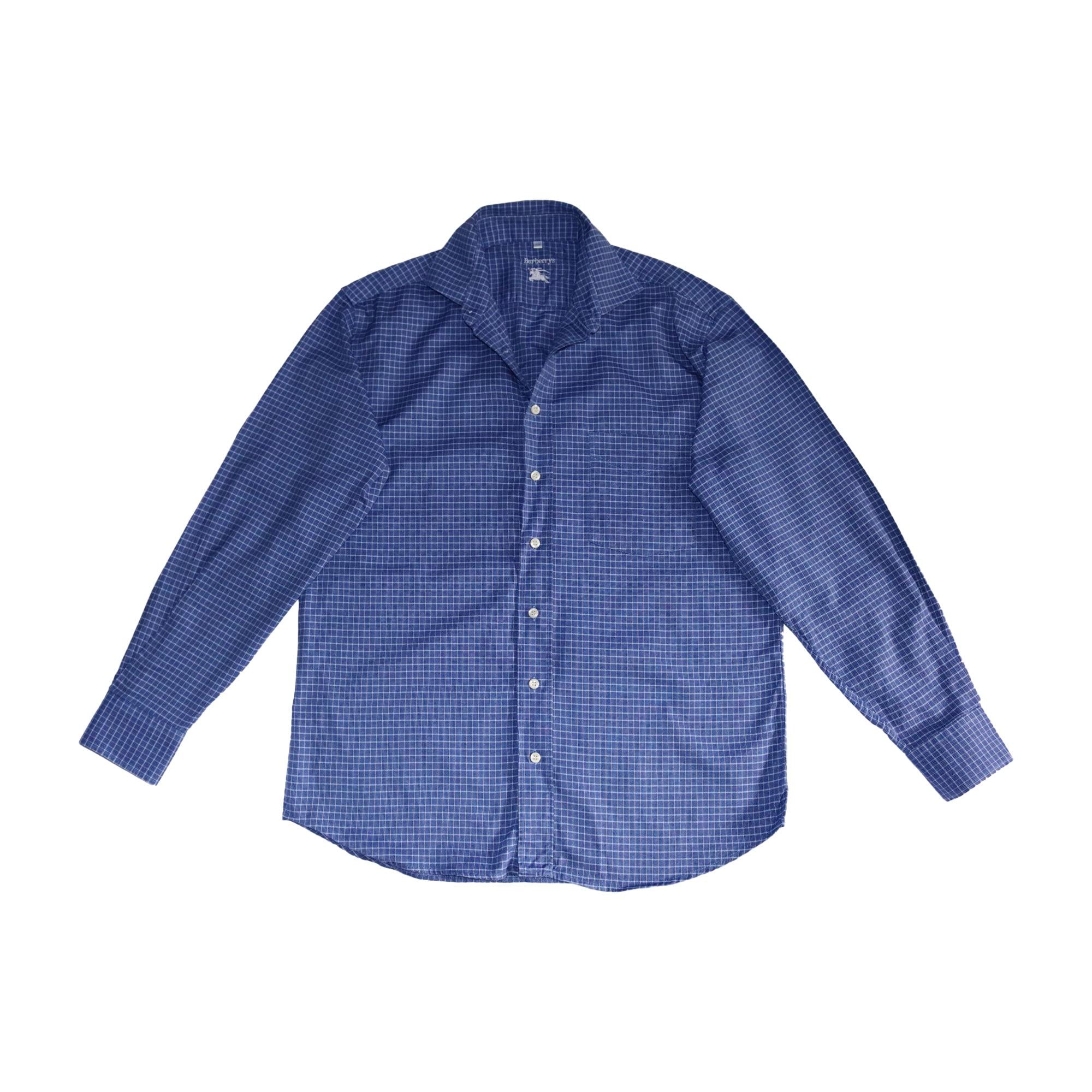 Chemise BURBERRY Bleu, bleu marine, bleu turquoise