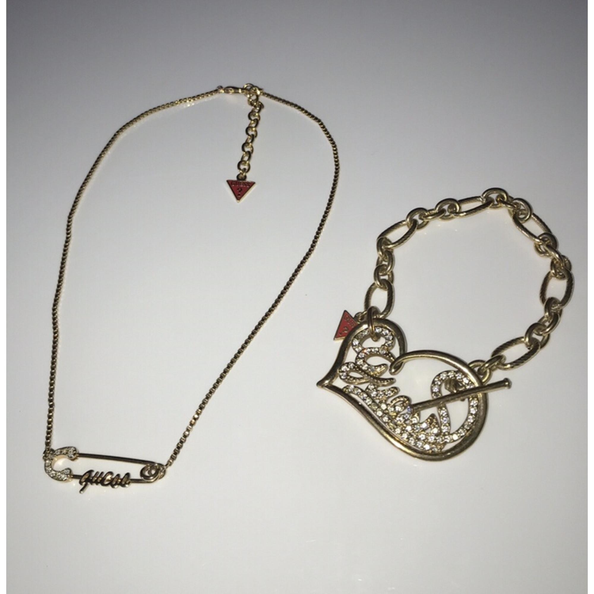 Parure bijoux GUESS Doré, bronze, cuivre