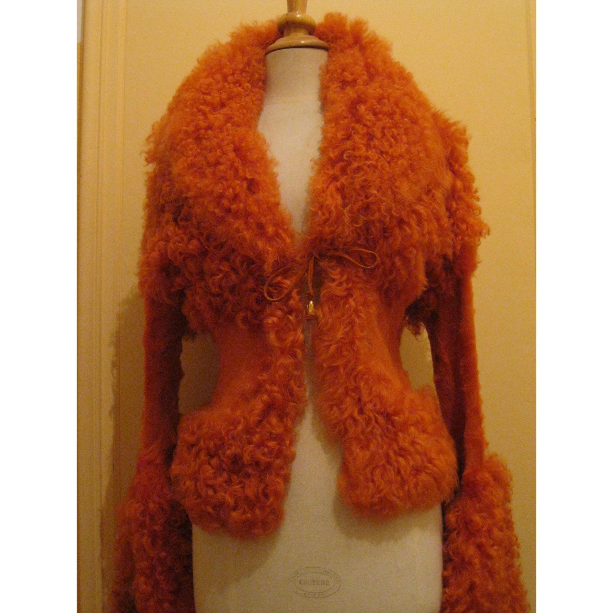 Blouson, veste en fourrure ARTISAN FOURREUR Orange