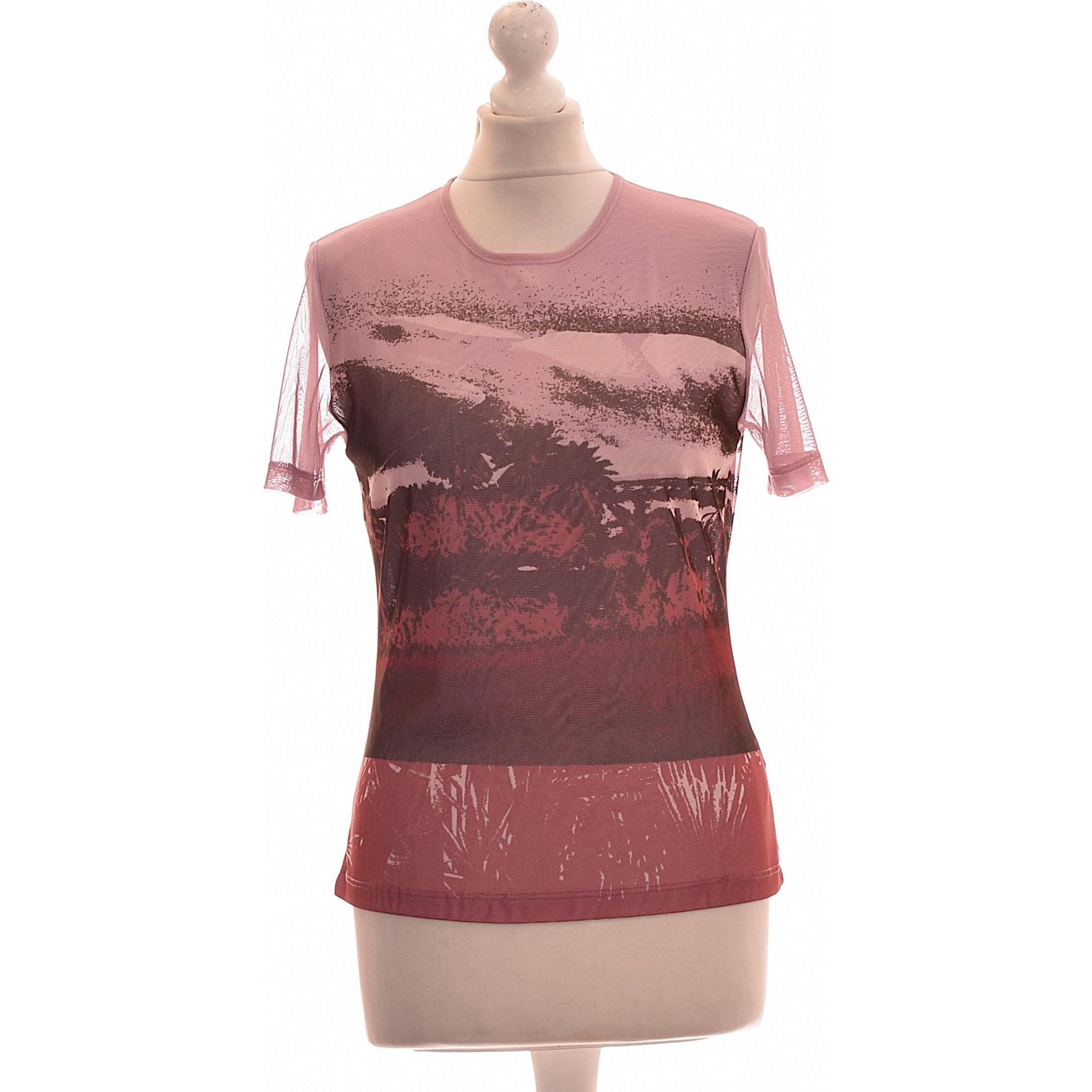 Top, tee-shirt NEW MAN Rose, fuschia, vieux rose