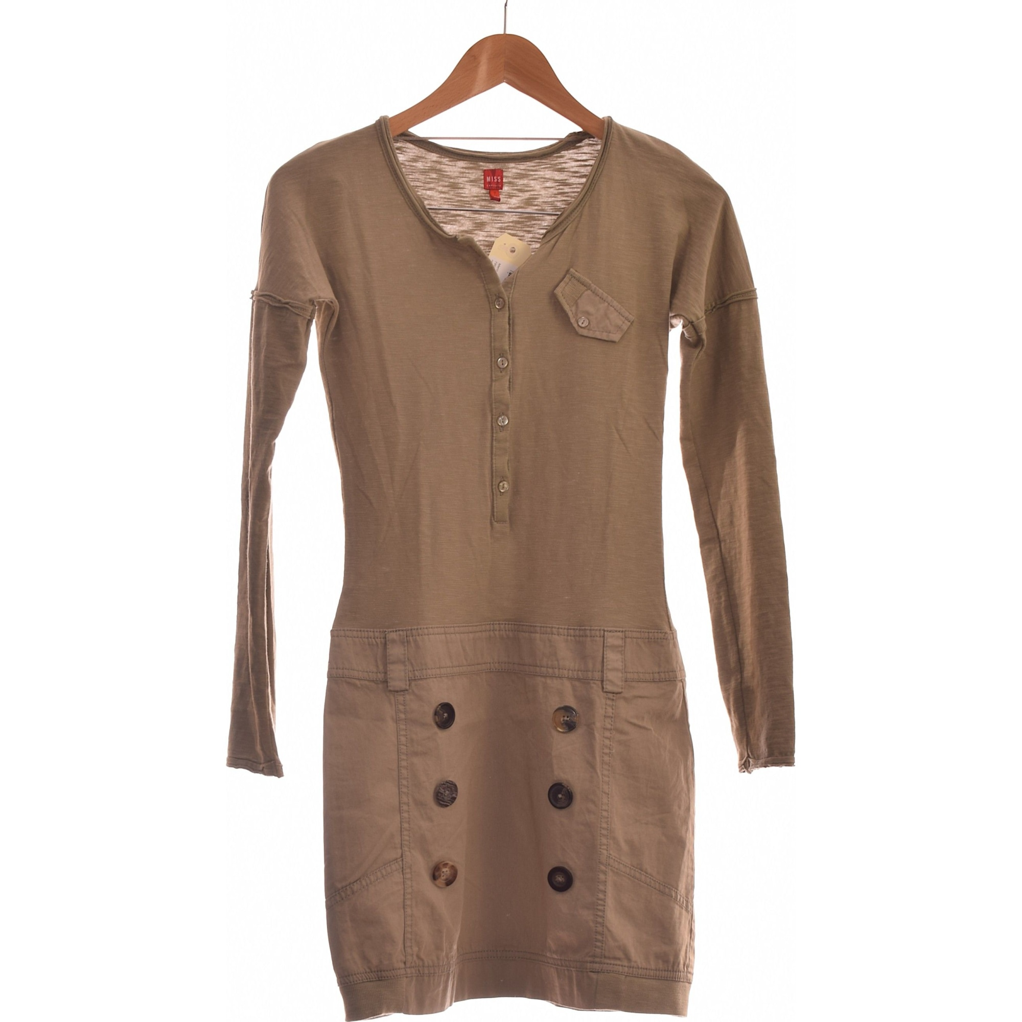 Robe courte MISS CAPTAIN Vert