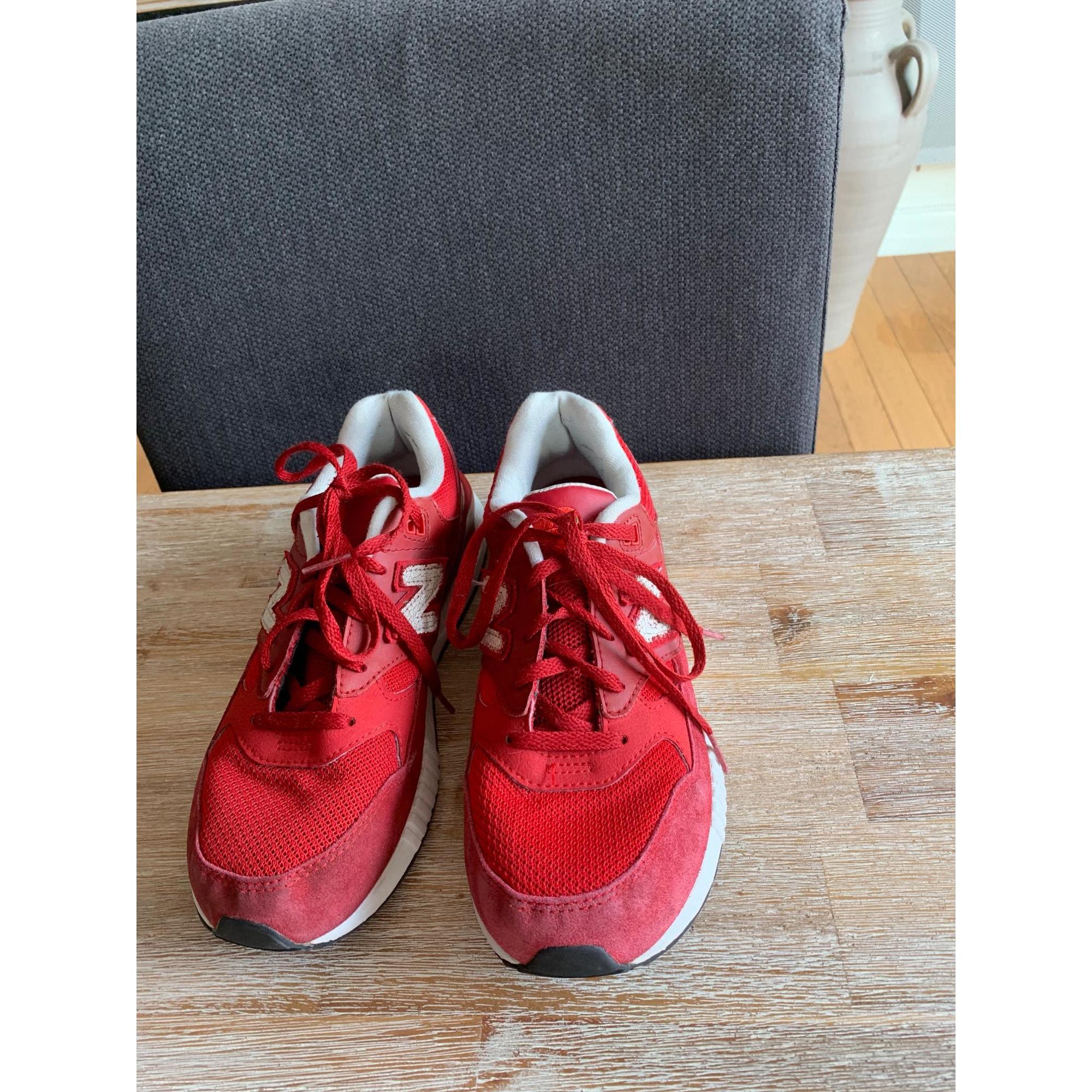 Baskets NEW BALANCE Rouge, bordeaux
