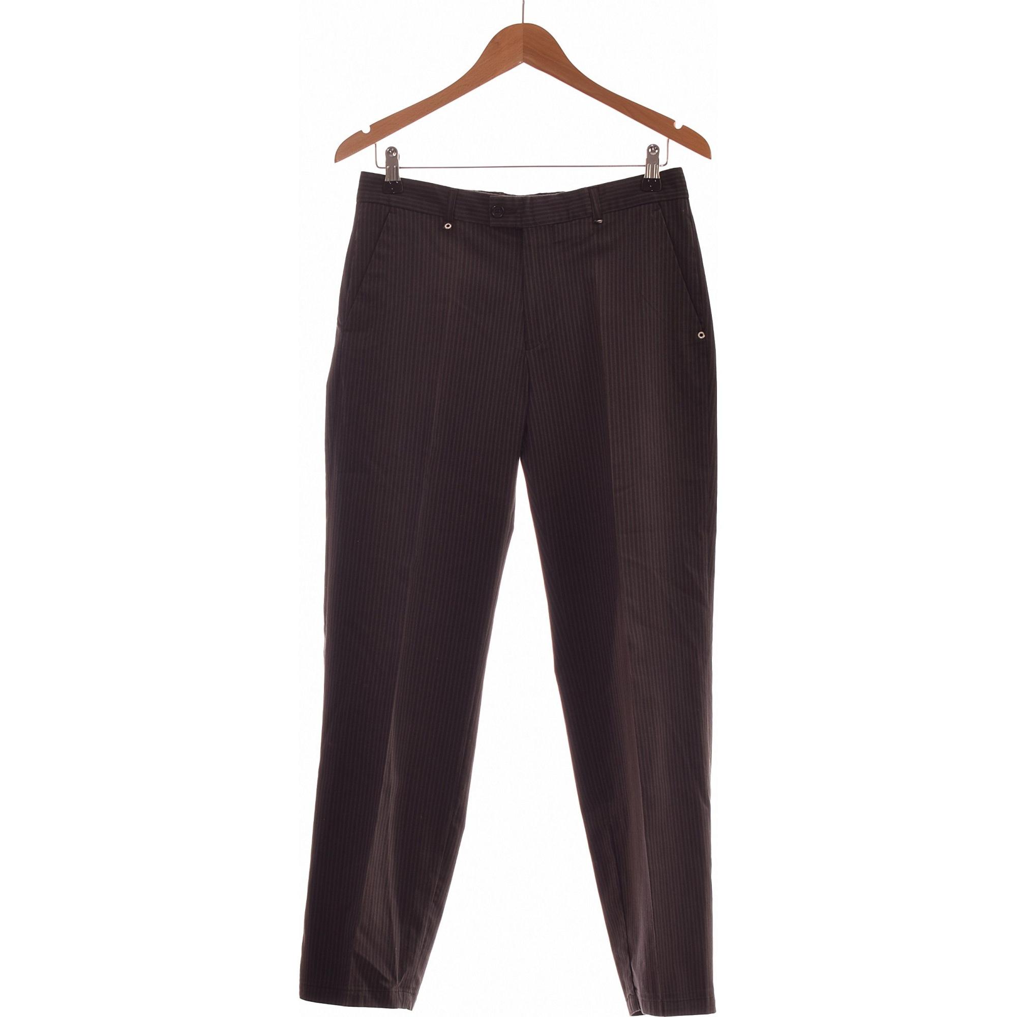 Pantalon droit CARNET DE VOL Gris, anthracite